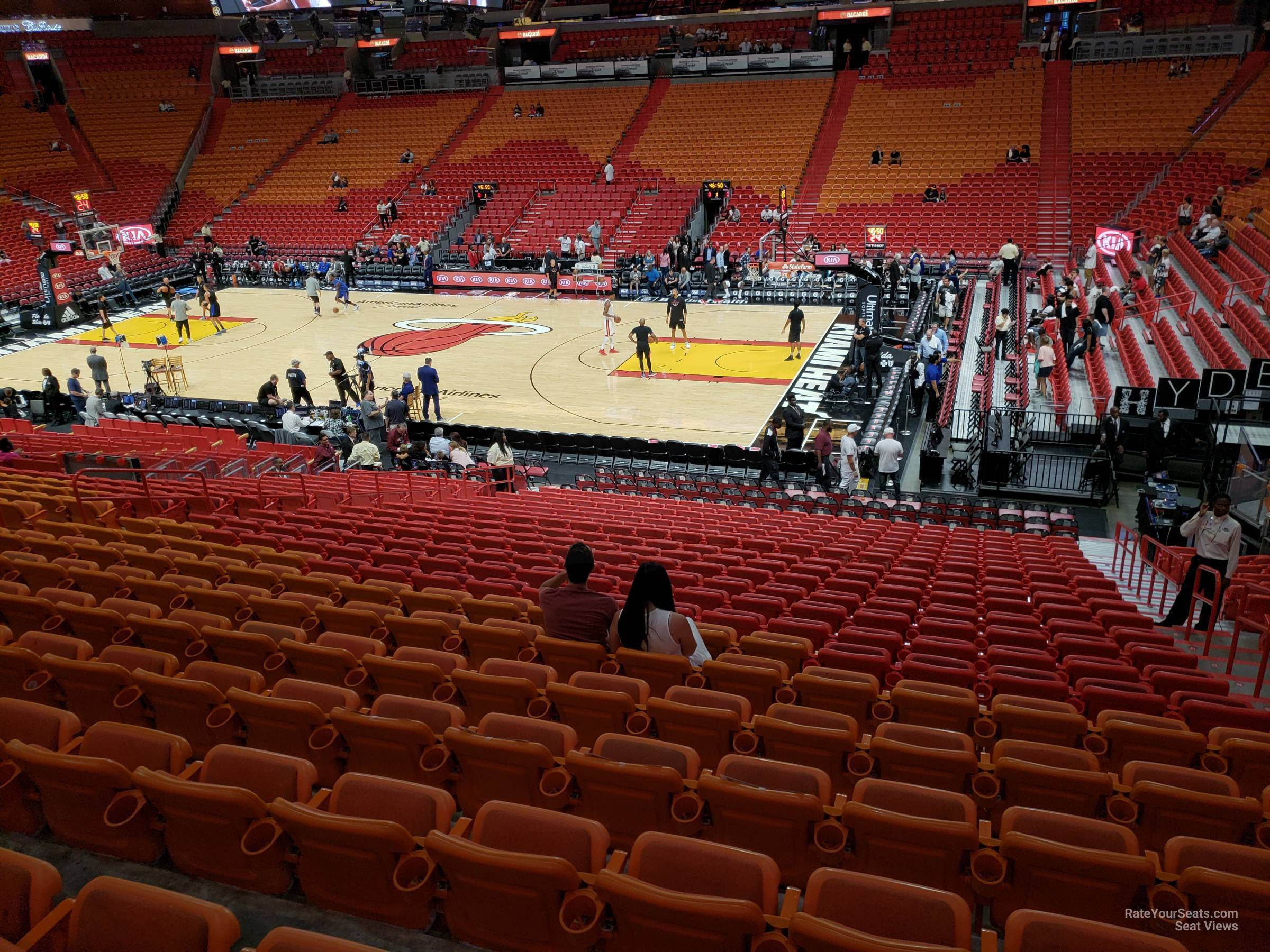 Seat View for AmericanAirlines Arena Section 117, Row 29
