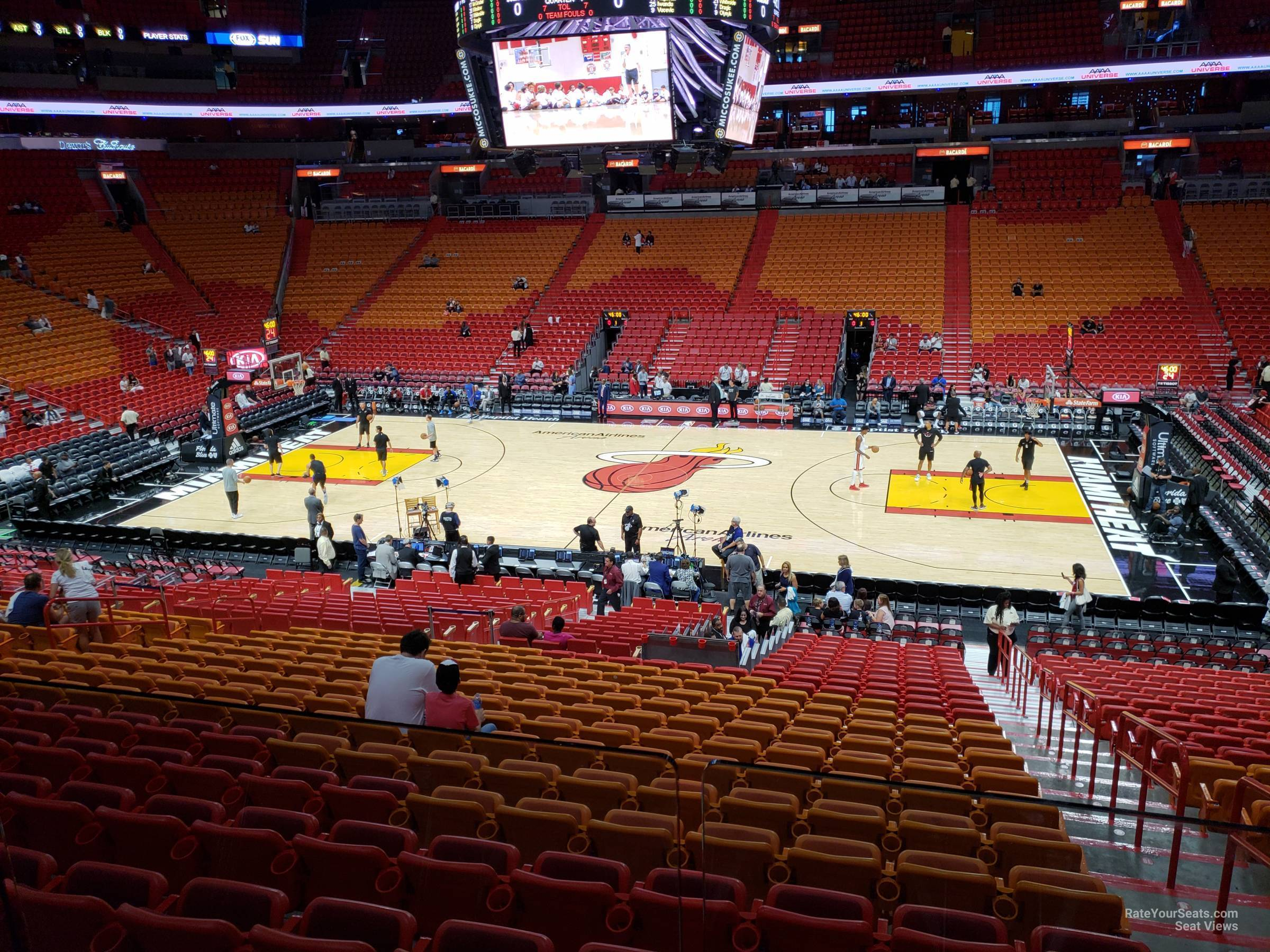 Seat View for AmericanAirlines Arena Section 118, Row 29