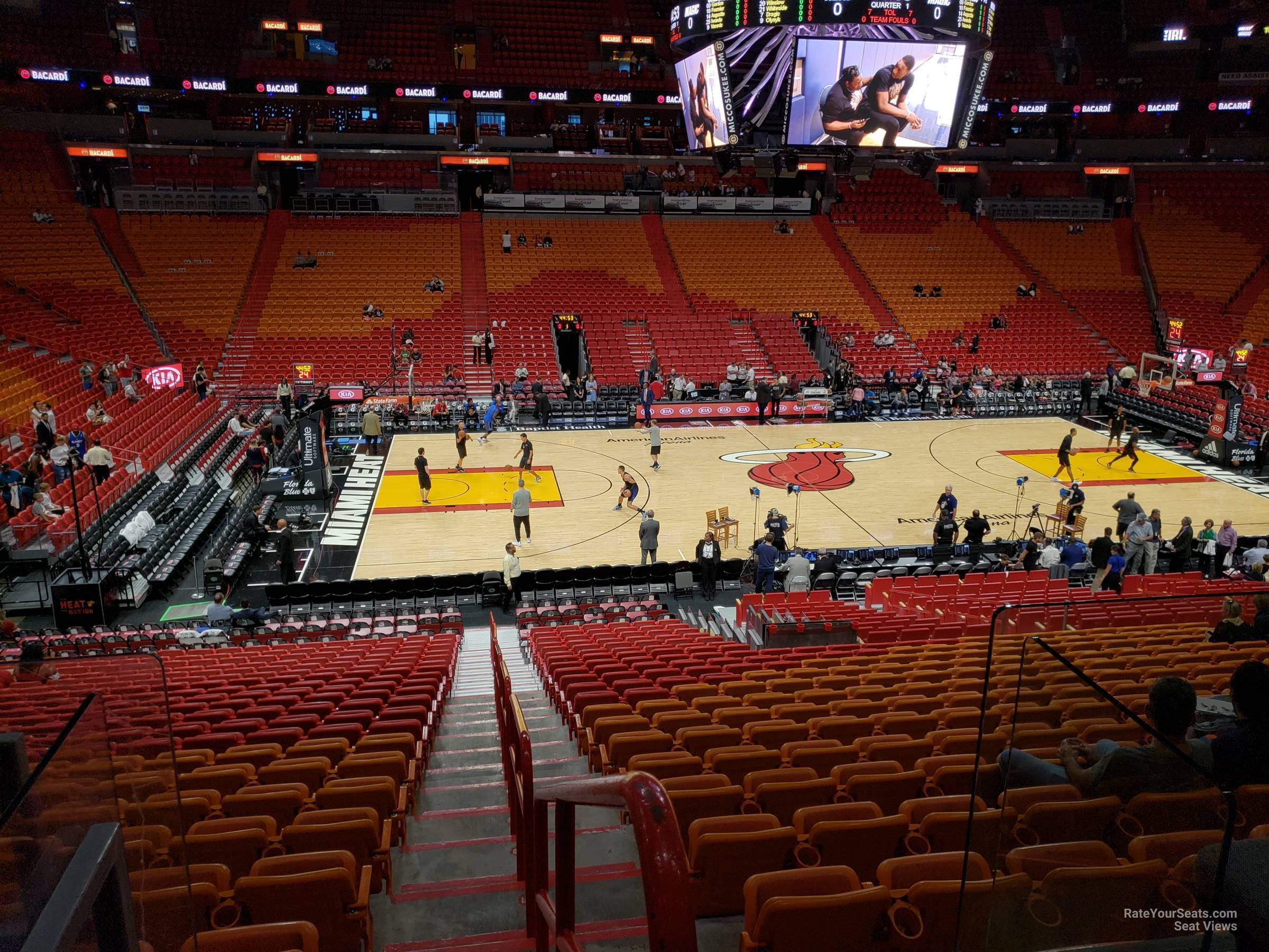Seat View for AmericanAirlines Arena Section 119, Row 29
