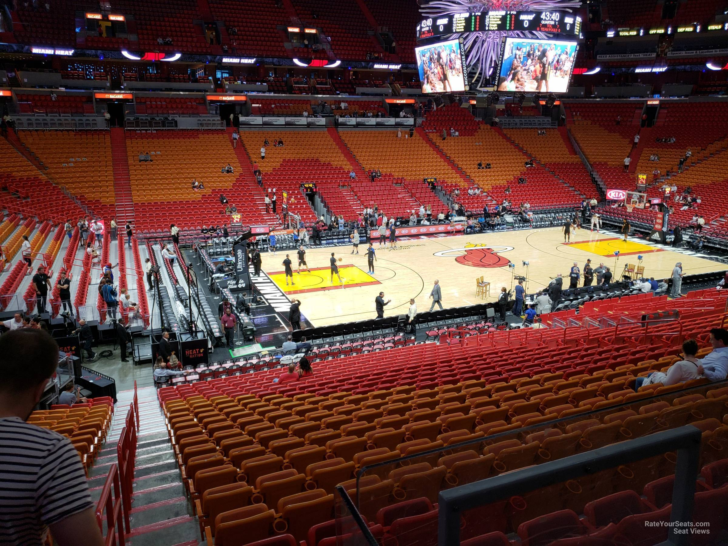 miami heat american airlines arena seat view | review home