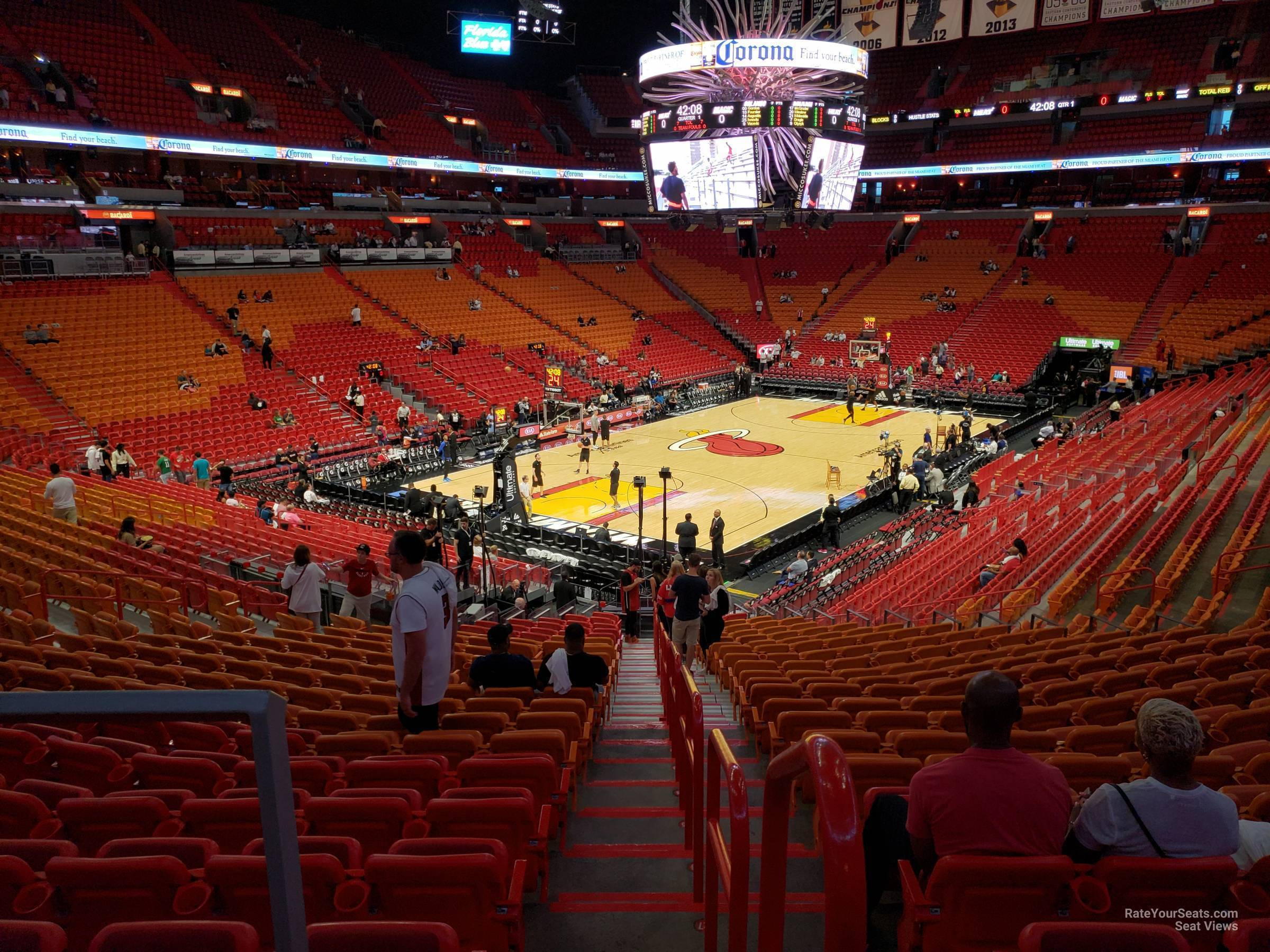 Seat View for AmericanAirlines Arena Section 123, Row 30