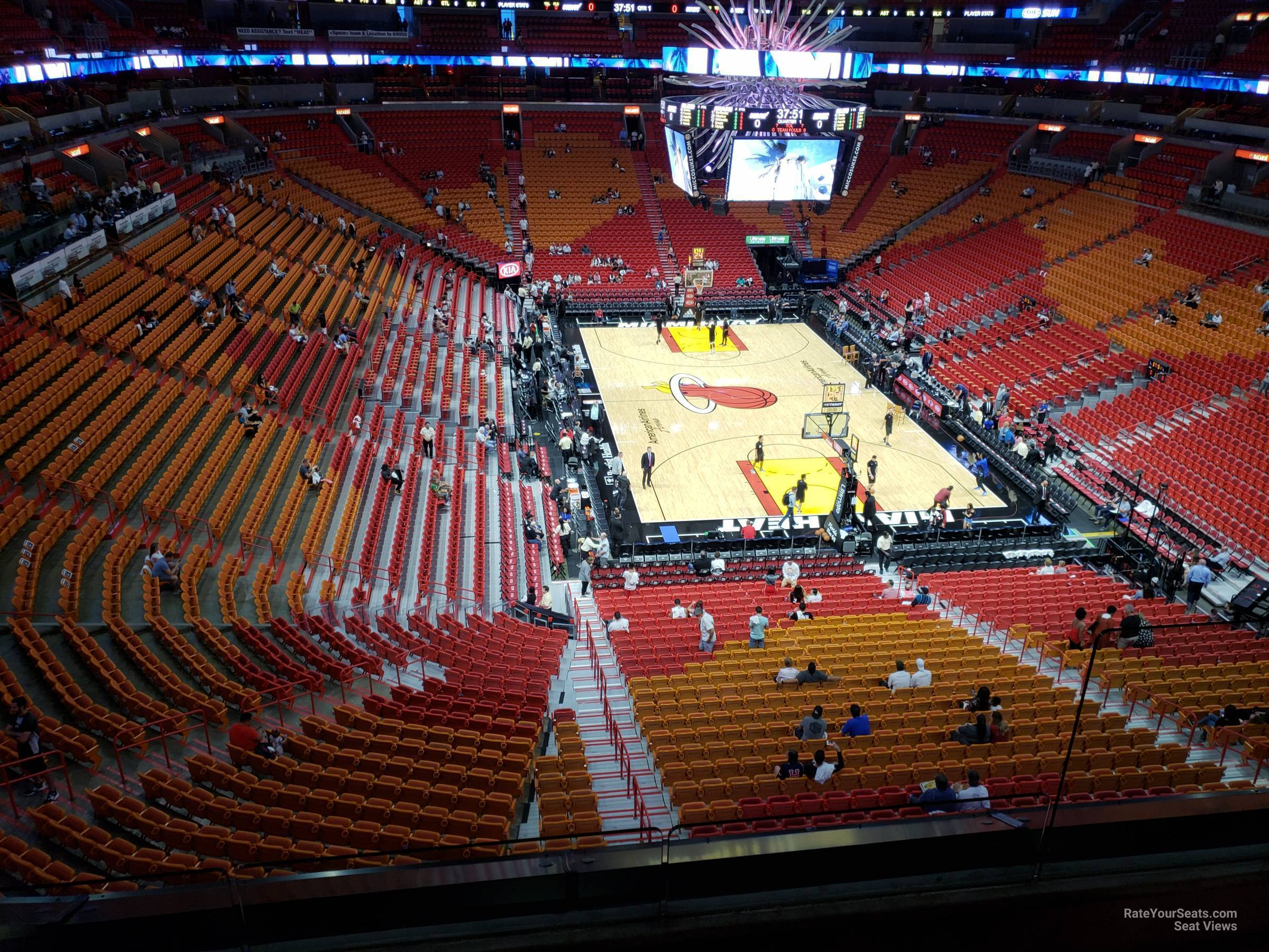 Seat View for AmericanAirlines Arena Section 301, Row 3