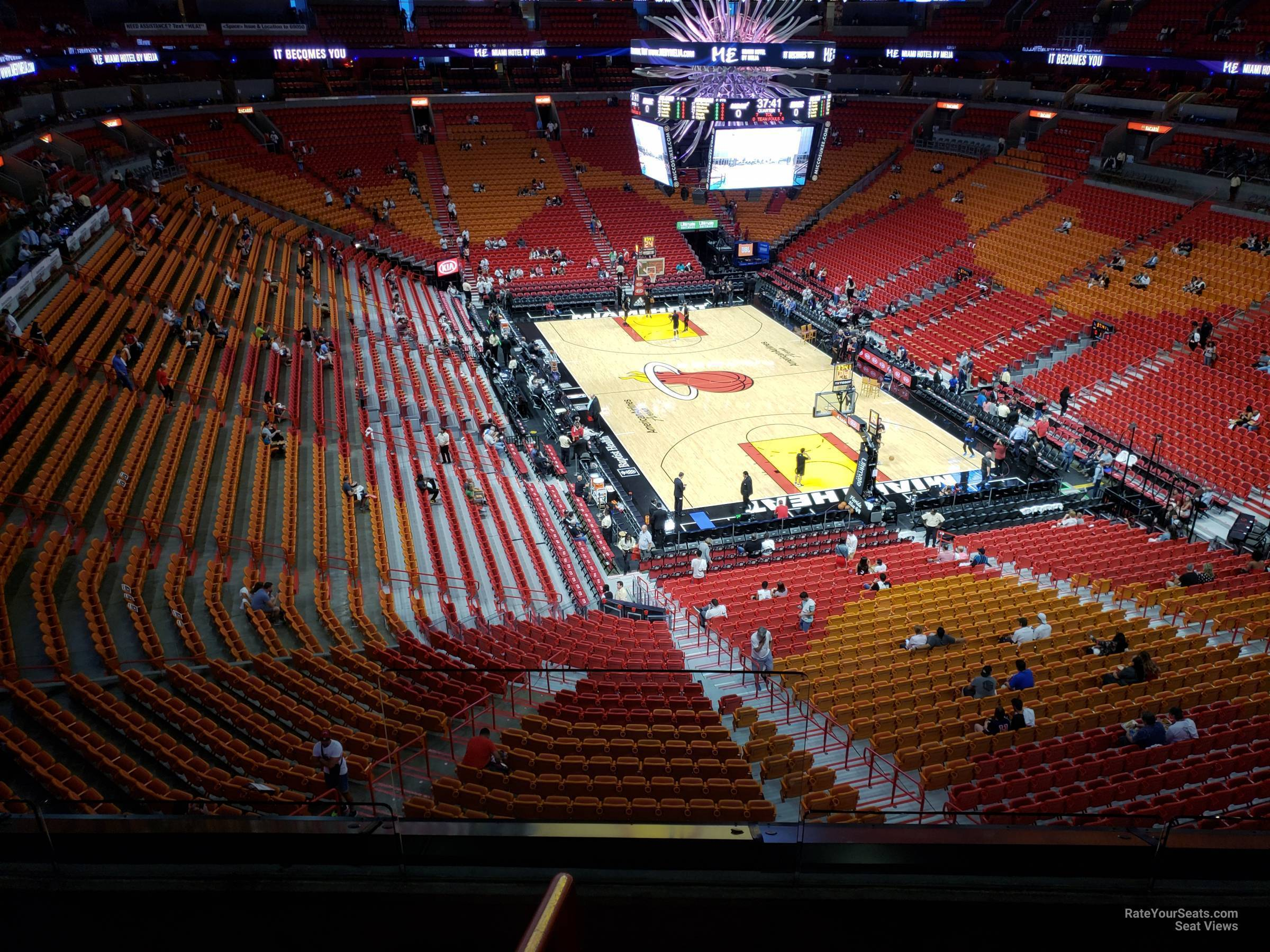 Seat View for AmericanAirlines Arena Section 302, Row 3