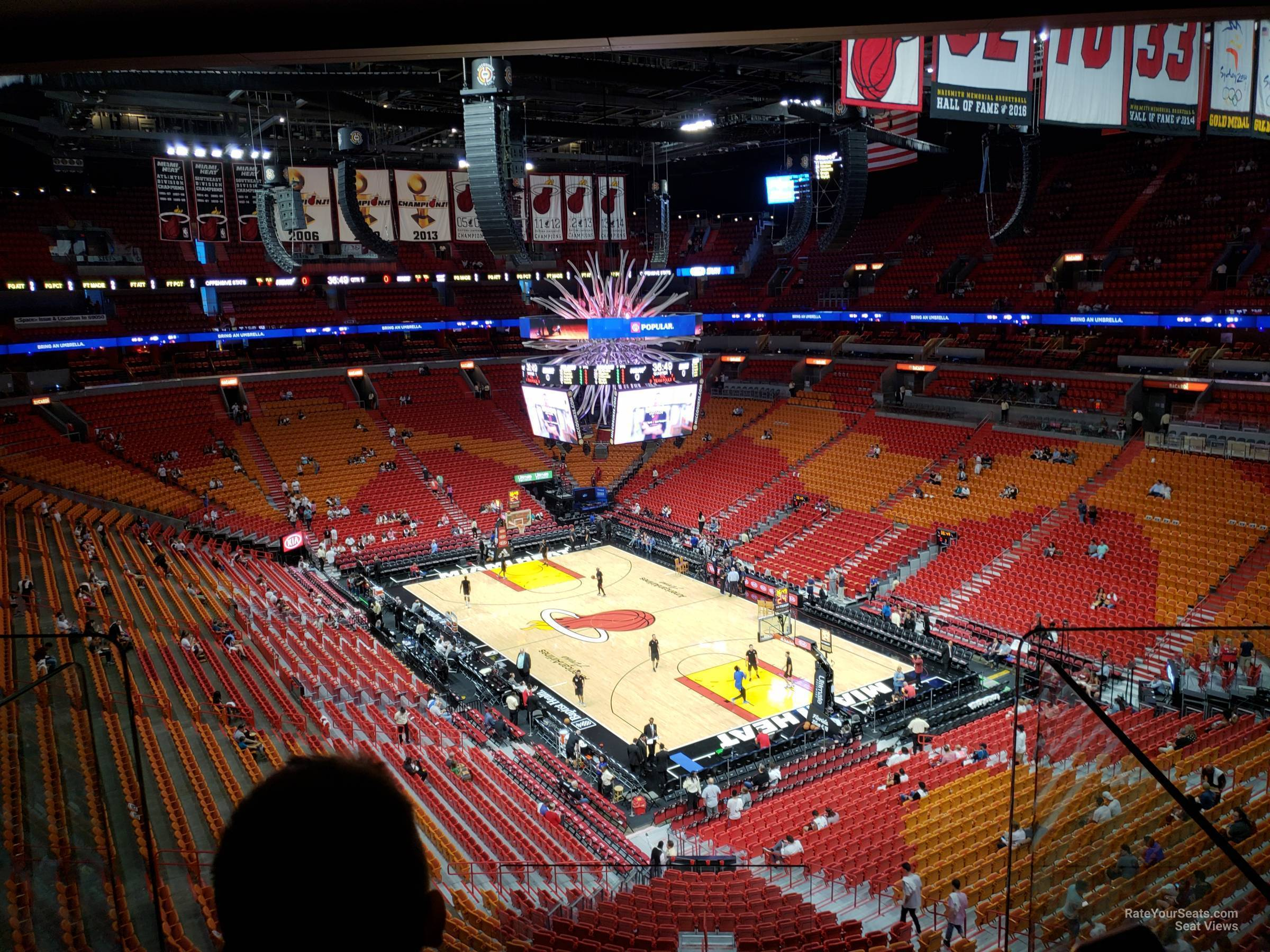 Americanairlines Arena Section 303 Miami Heat