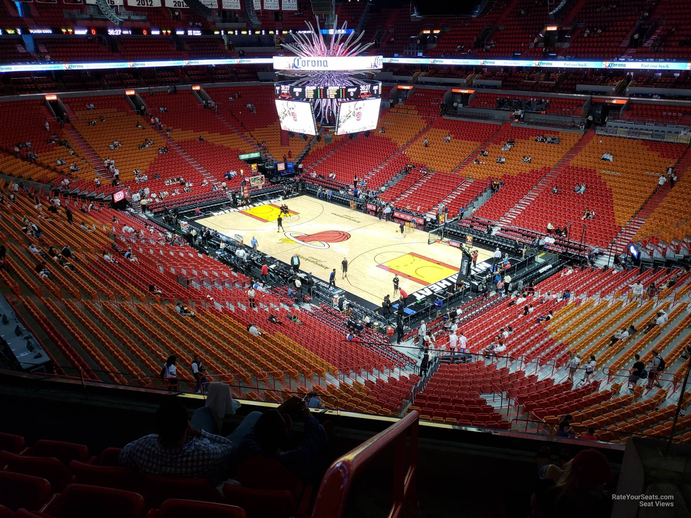 Seat View for AmericanAirlines Arena Section 304, Row 3