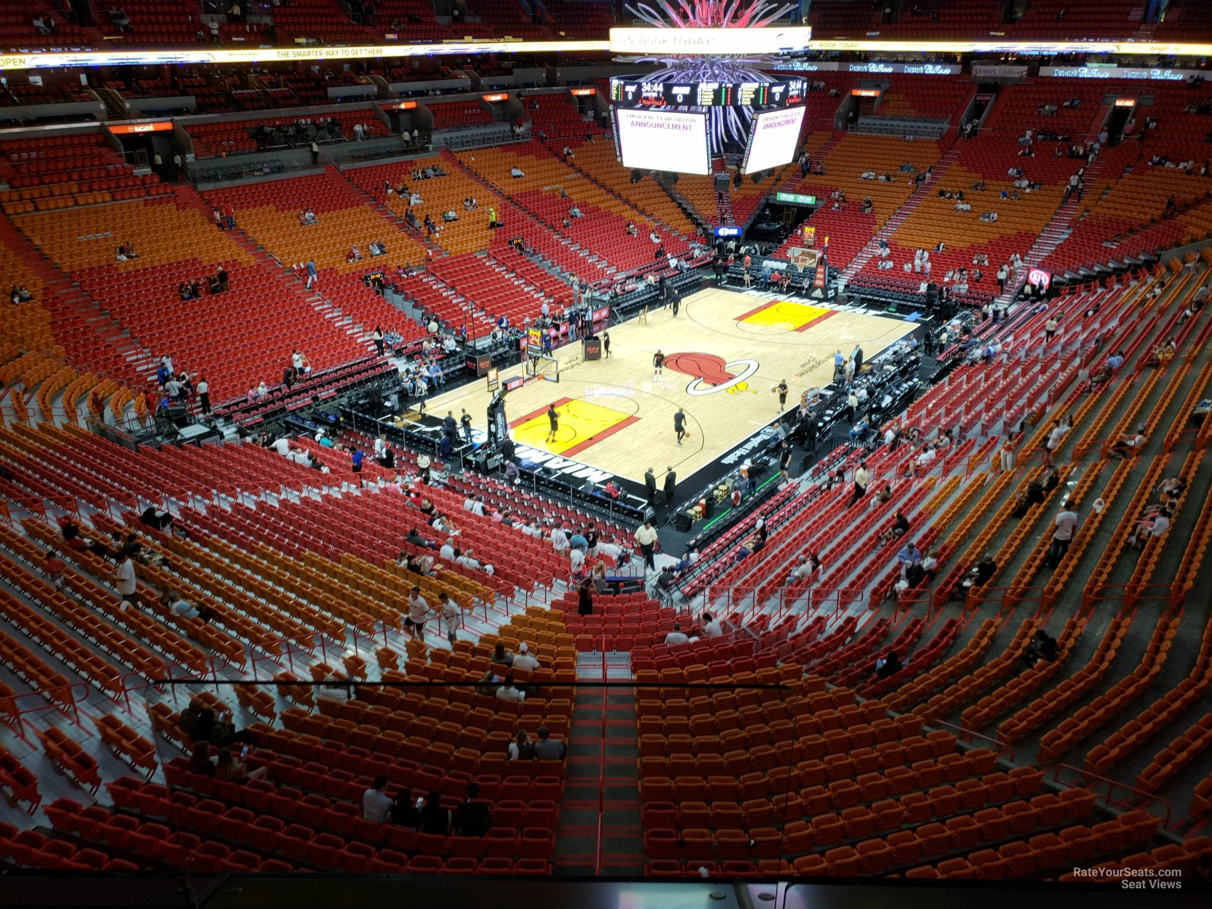 Seat View for AmericanAirlines Arena Section 313, Row 3