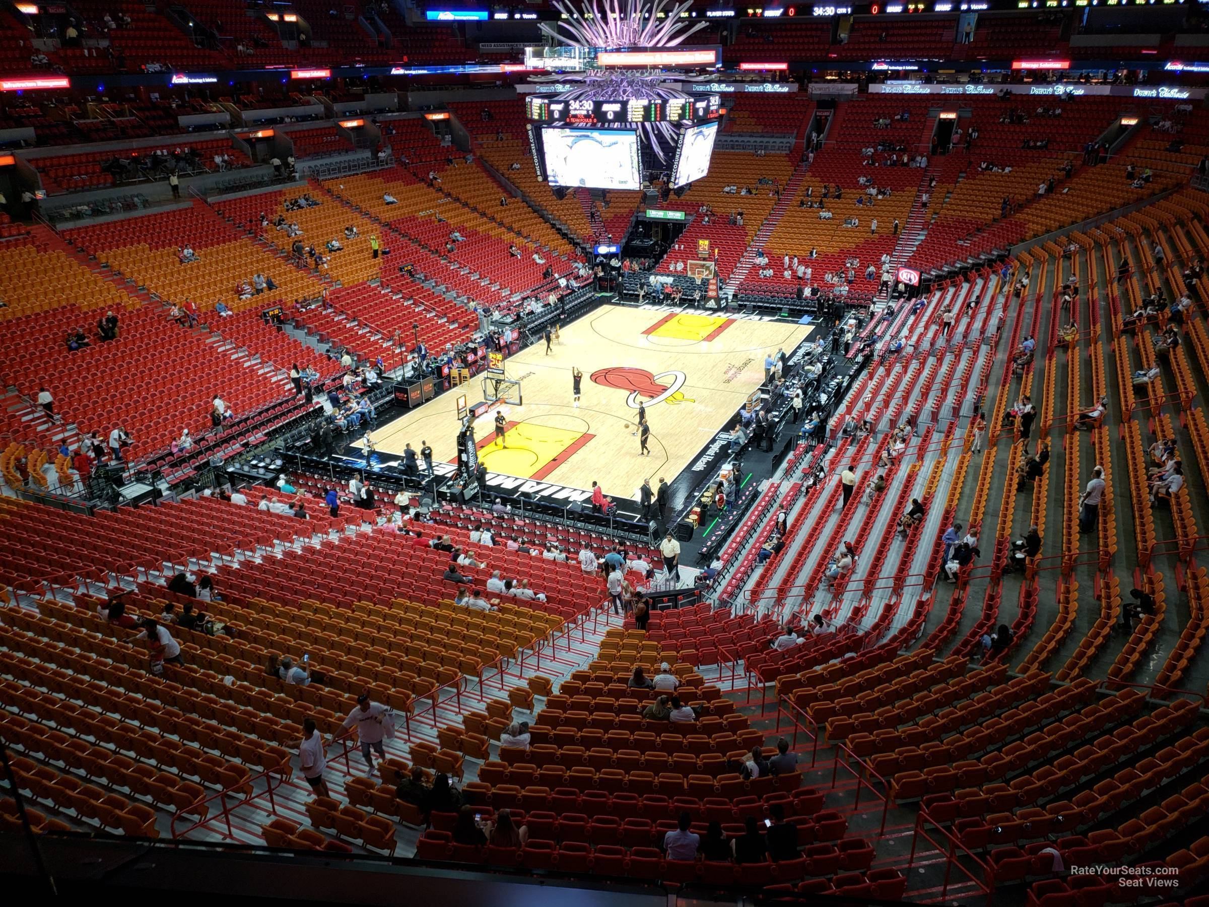 Seat View for AmericanAirlines Arena Section 314, Row 3