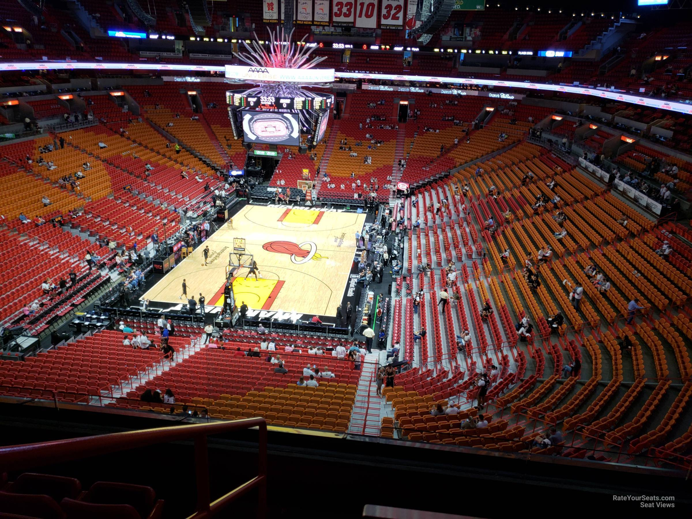 Seat View for AmericanAirlines Arena Section 315, Row 3