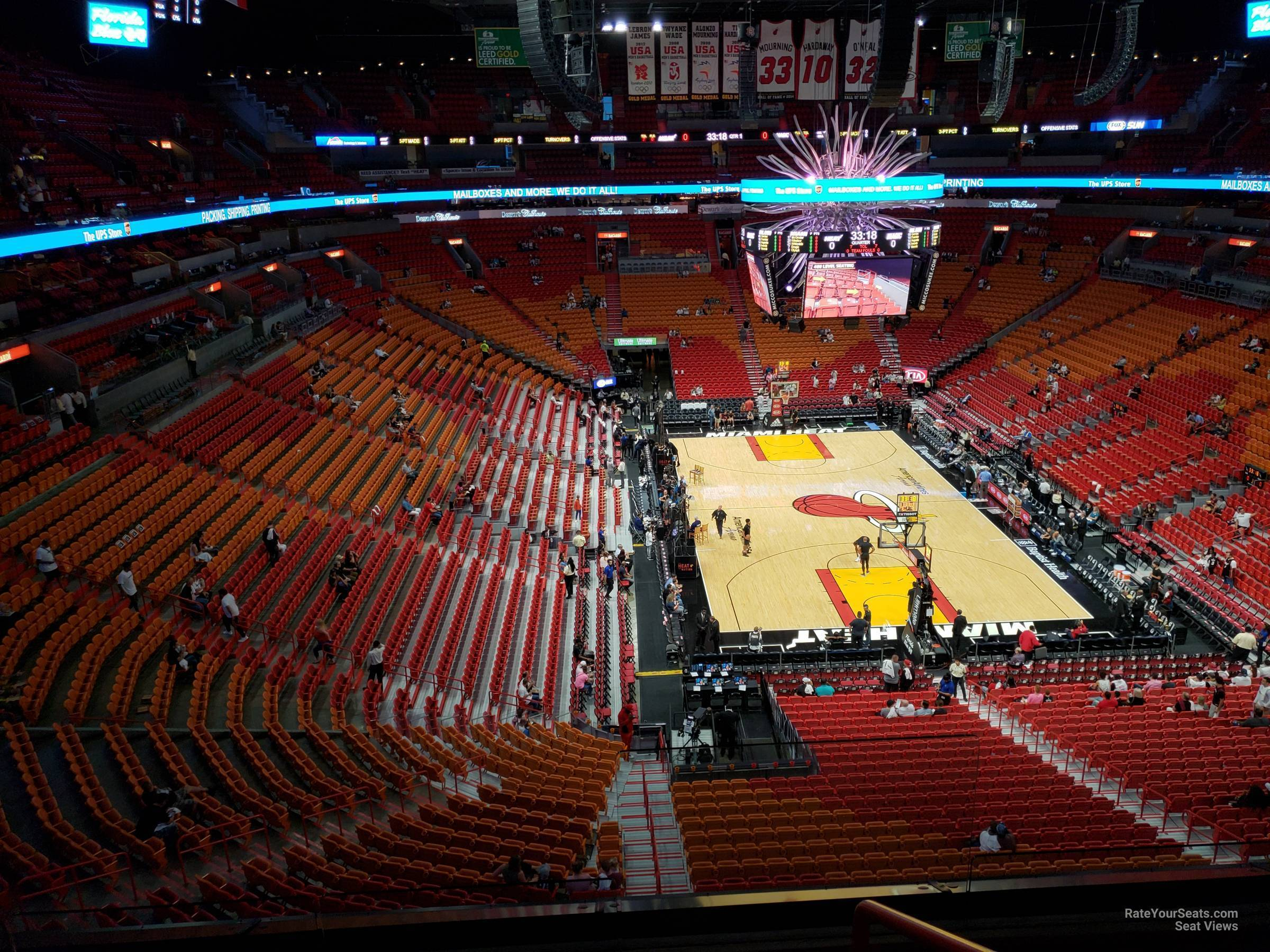 Seat View for AmericanAirlines Arena Section 318, Row 3