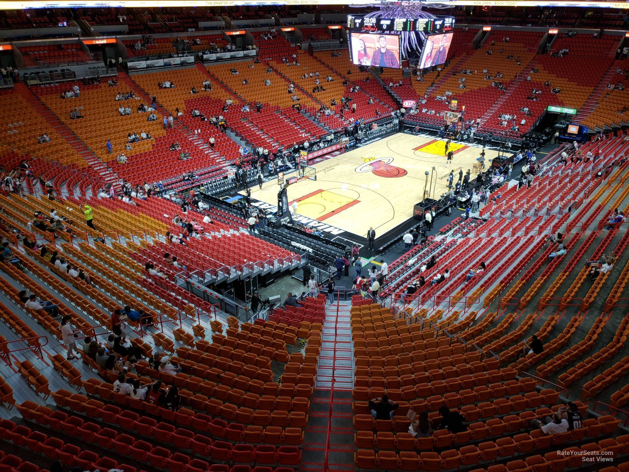 Seat View for AmericanAirlines Arena Section 329, Row 3