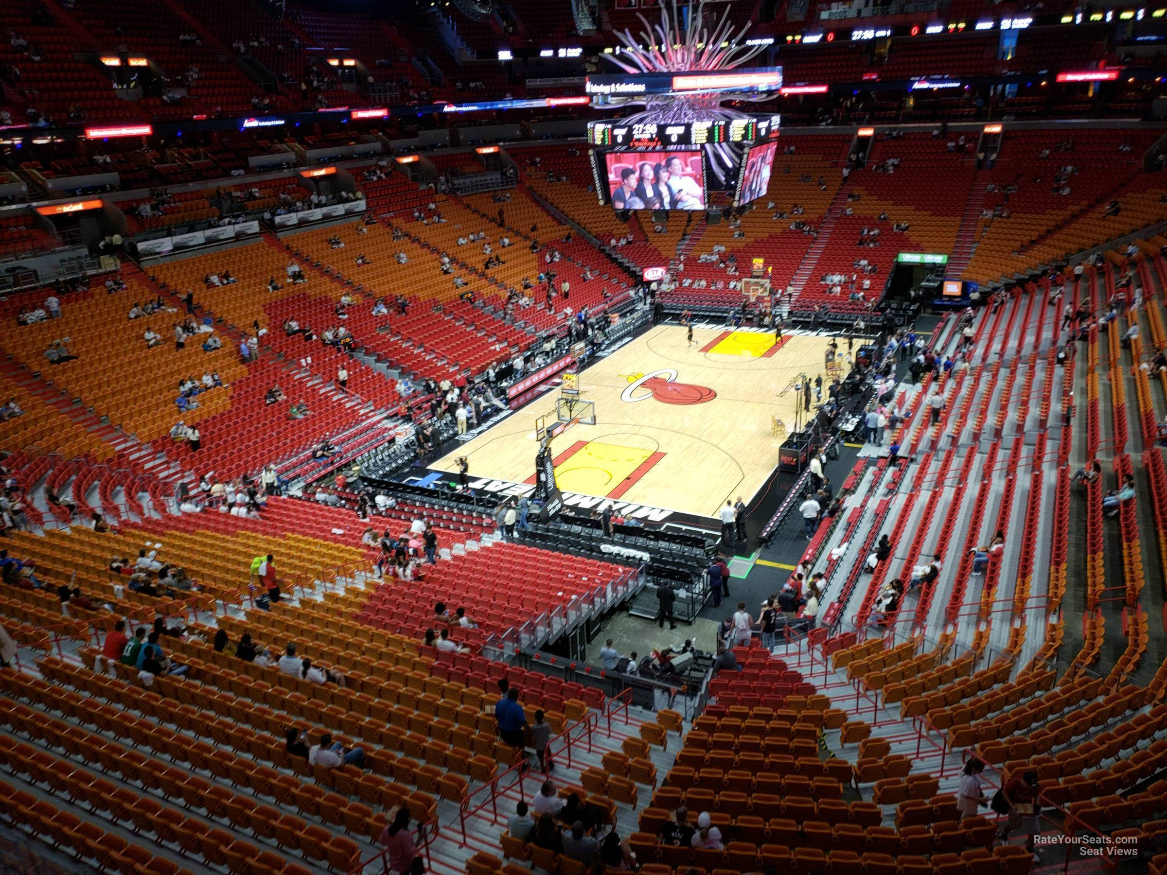 Seat View for AmericanAirlines Arena Section 330, Row 3