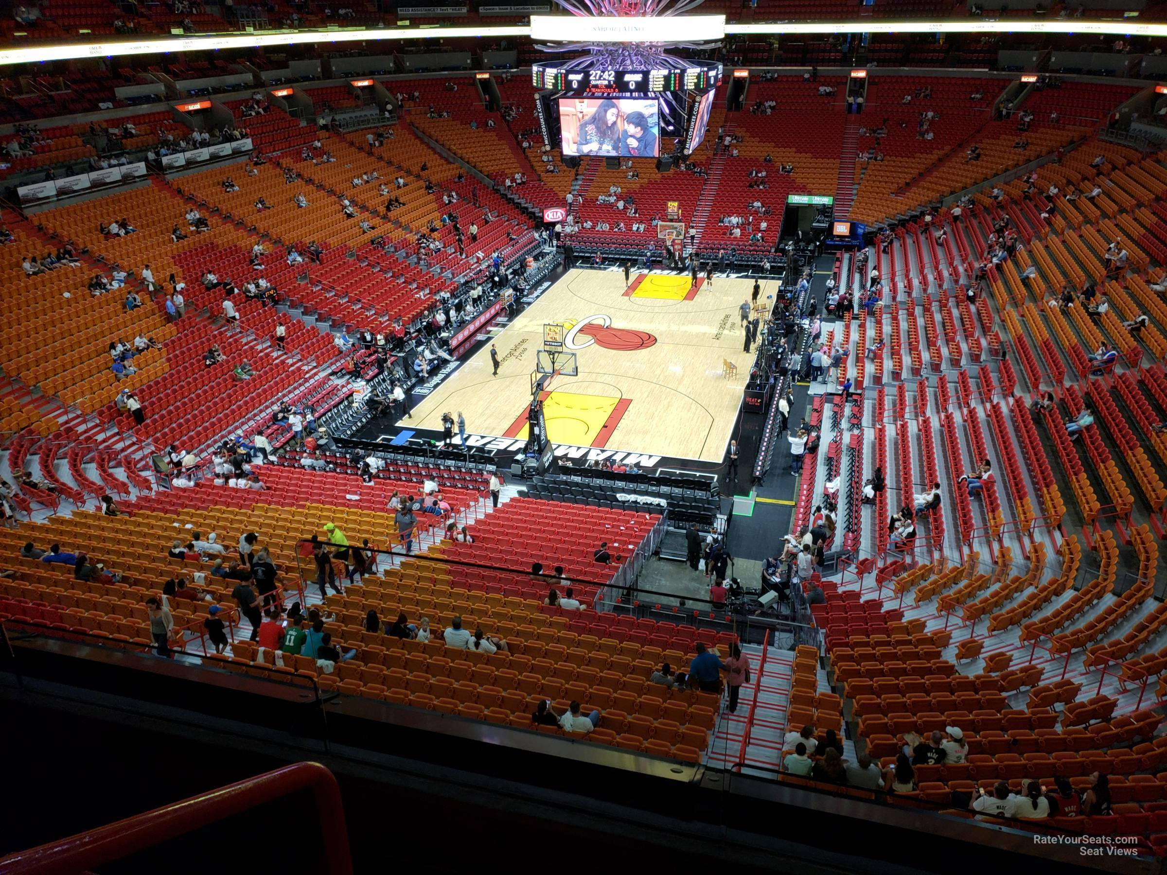 Seat View for AmericanAirlines Arena Section 331, Row 3