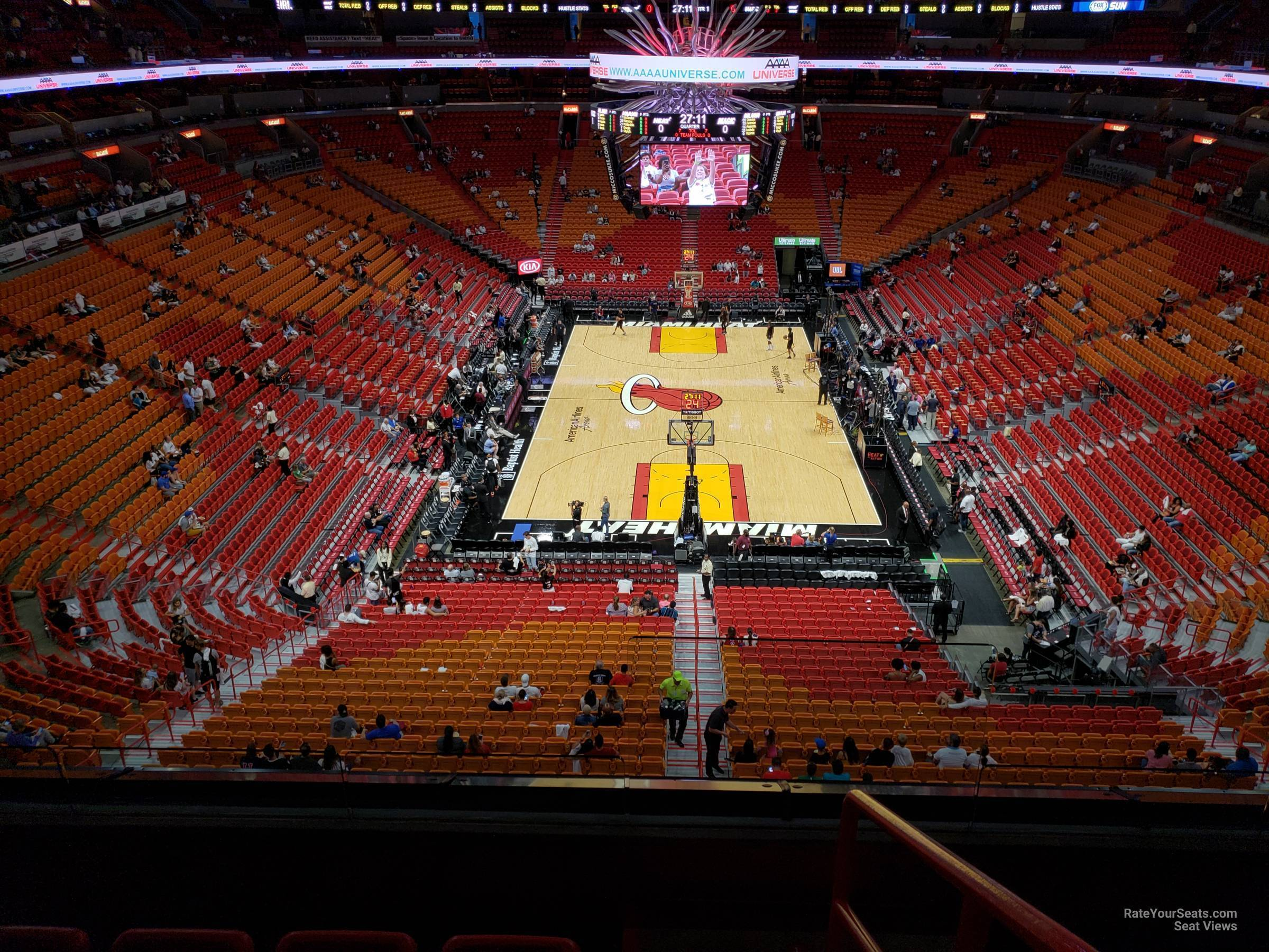 Miami Heat American Airlines Arena Seat View Review Home
