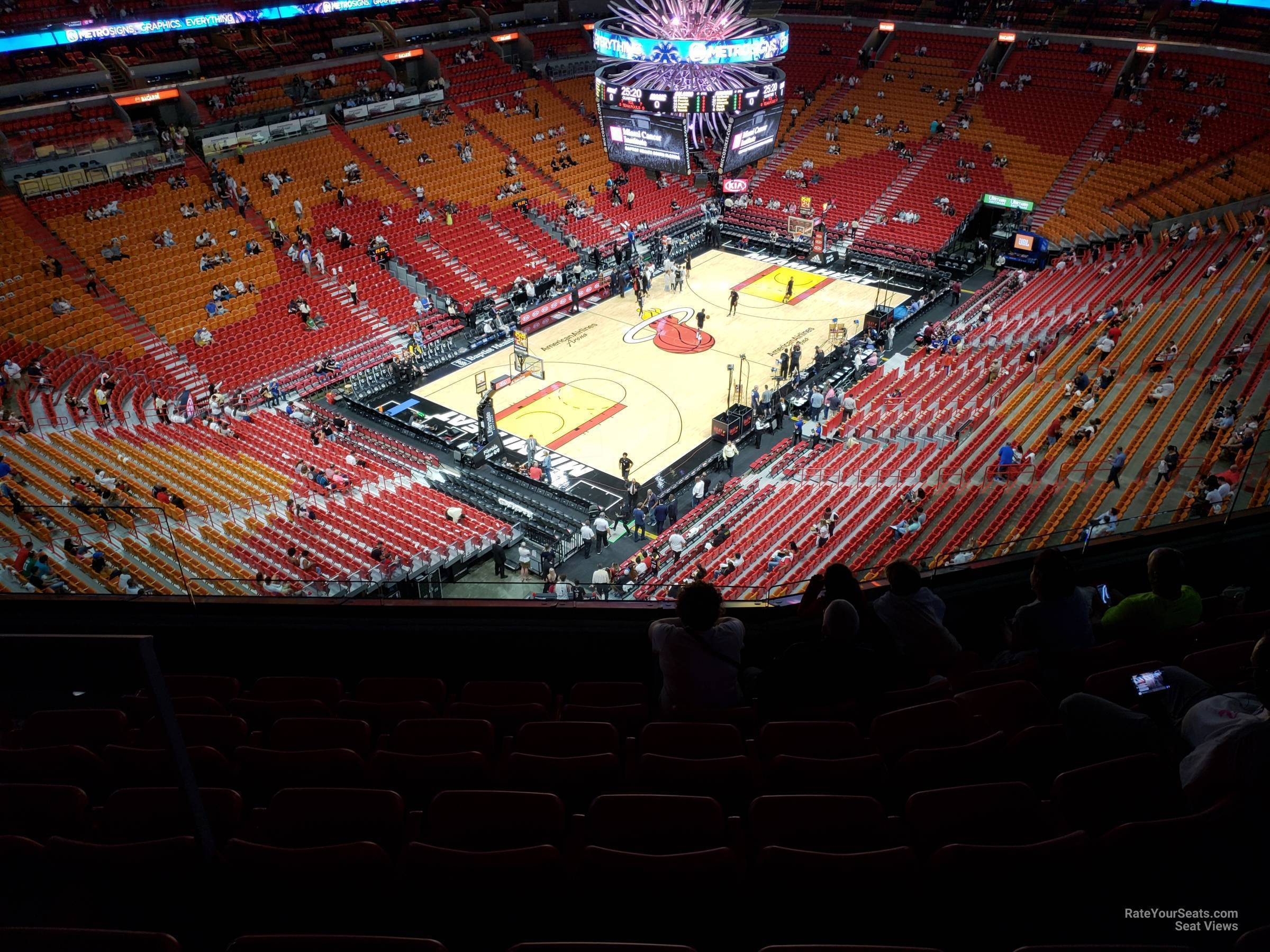 Seat View for AmericanAirlines Arena Section 401, Row 6