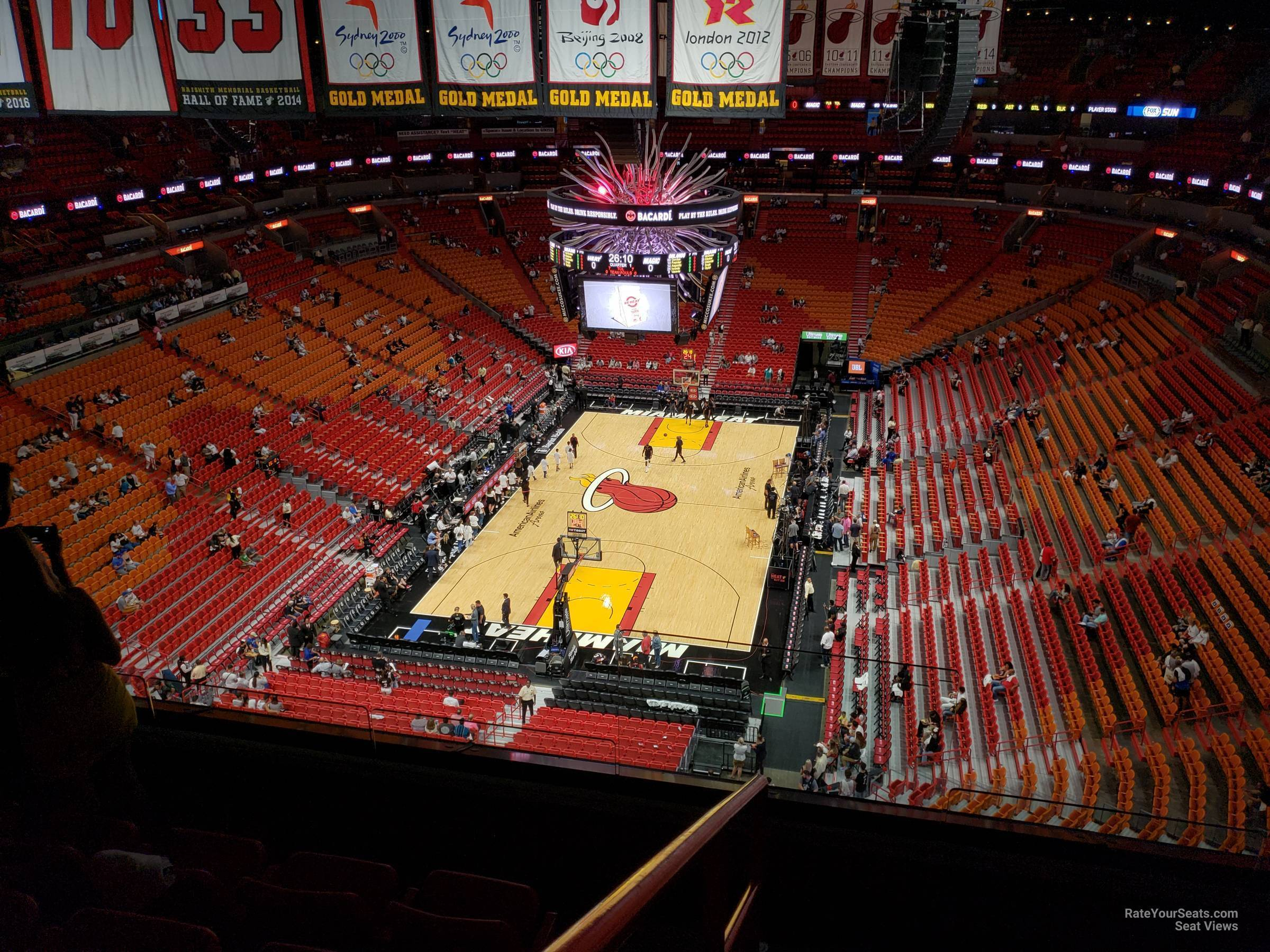 Seat View for AmericanAirlines Arena Section 404, Row 6