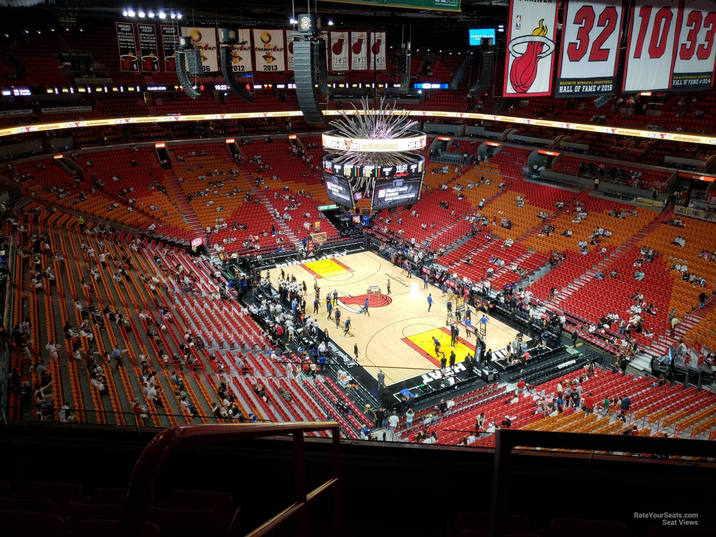 Seat View for AmericanAirlines Arena Section 409, Row 6
