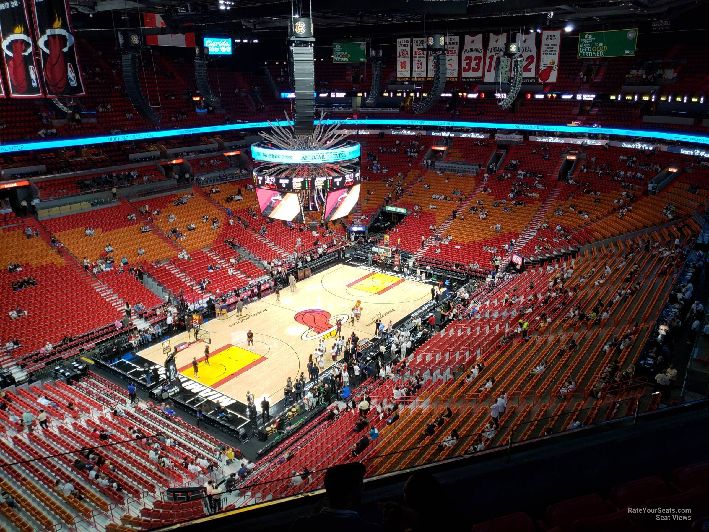 Seat View for AmericanAirlines Arena Section 412, Row 6