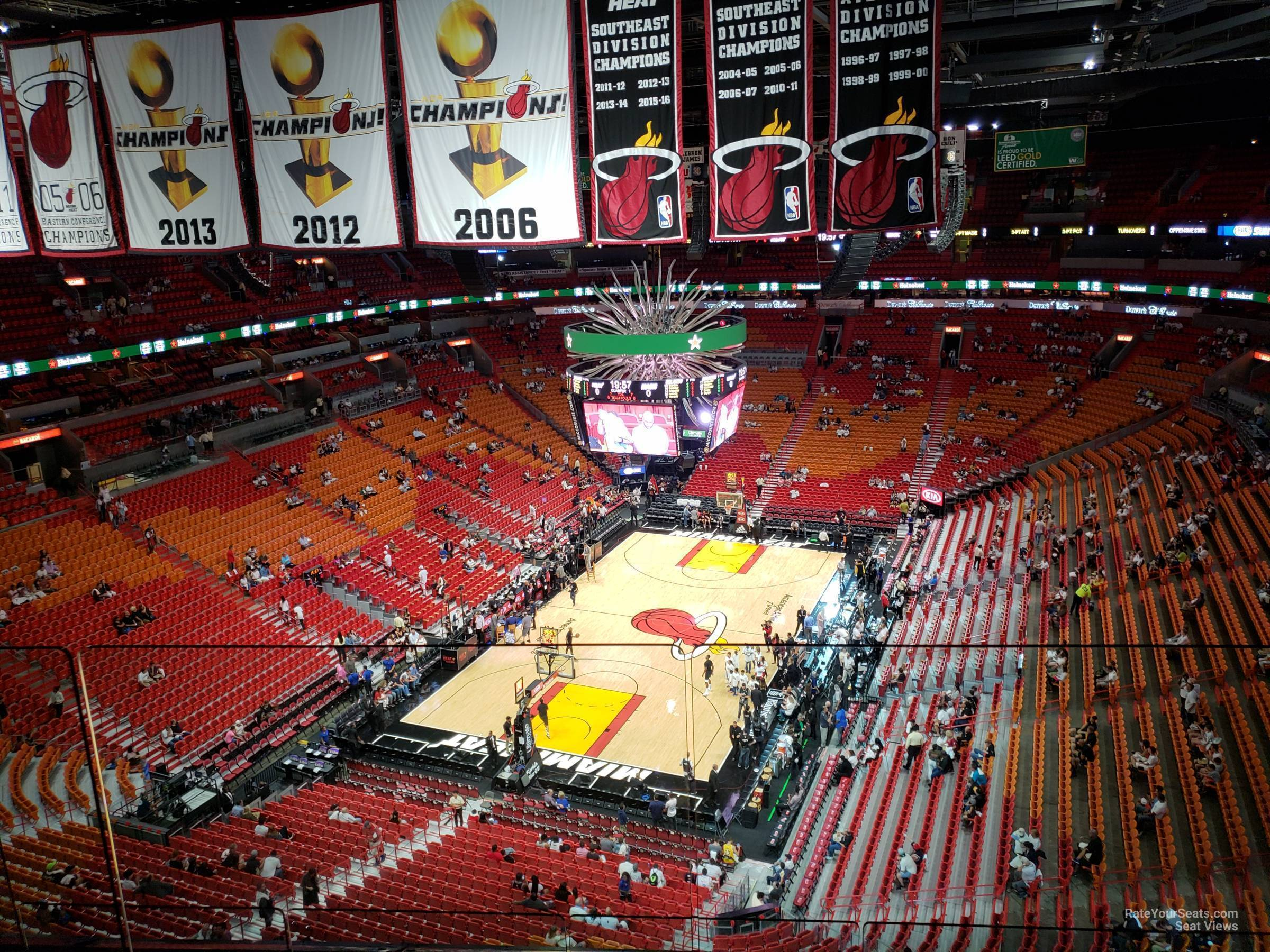 Seat View for AmericanAirlines Arena Section 413, Row 6