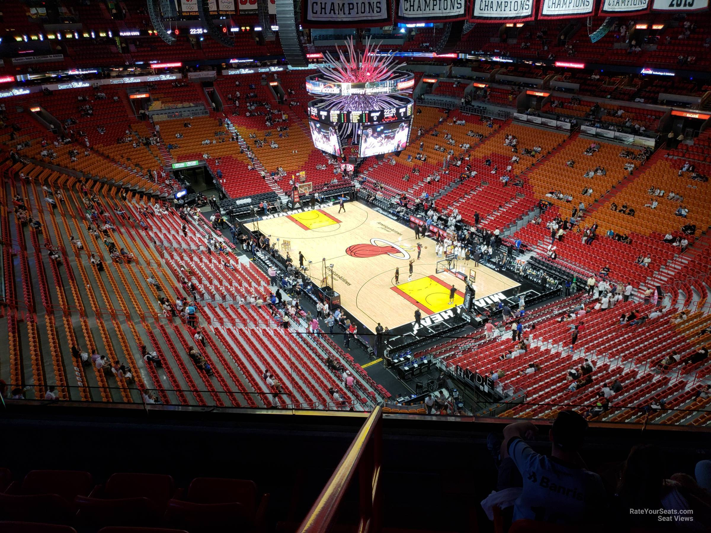 Americanairlines Arena Section 418 Miami Heat