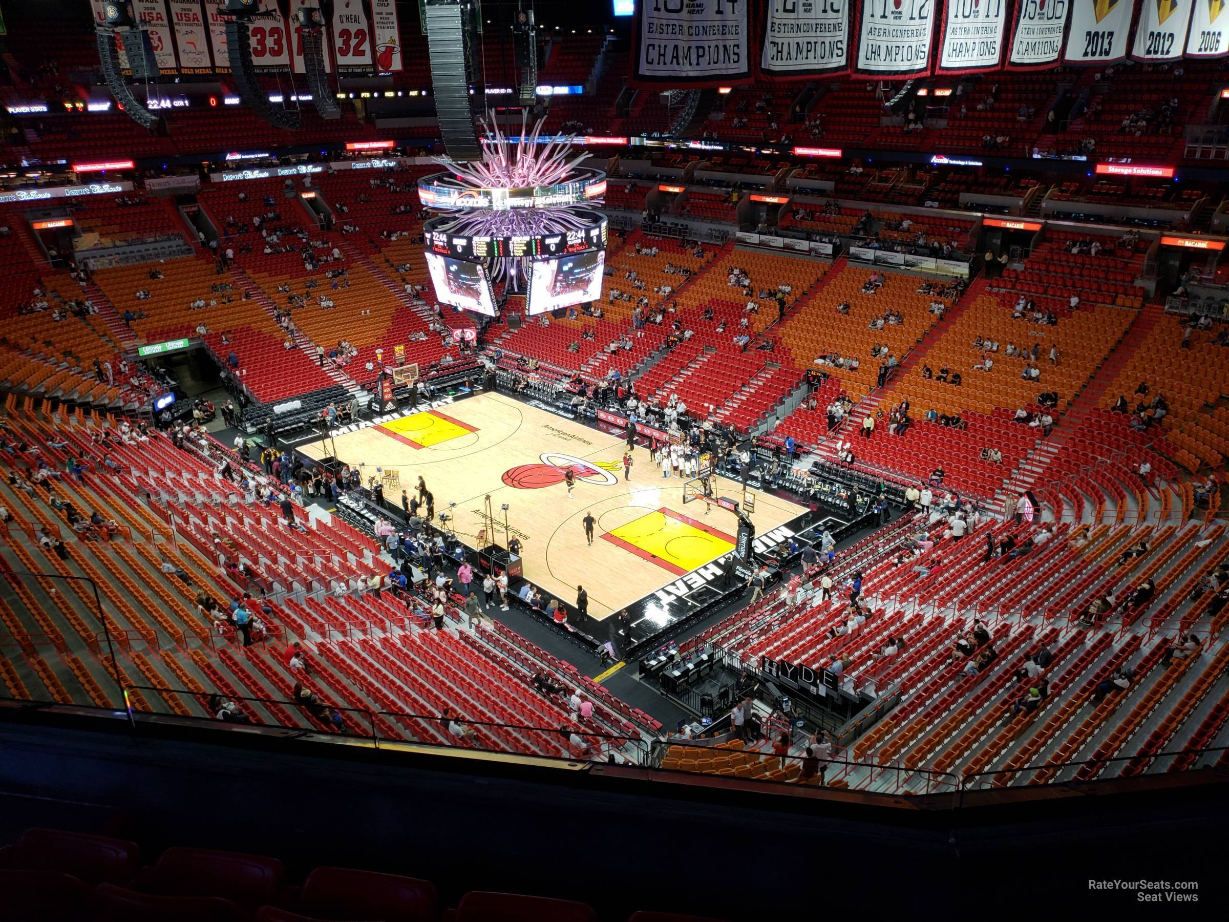 Seat View for AmericanAirlines Arena Section 419, Row 6