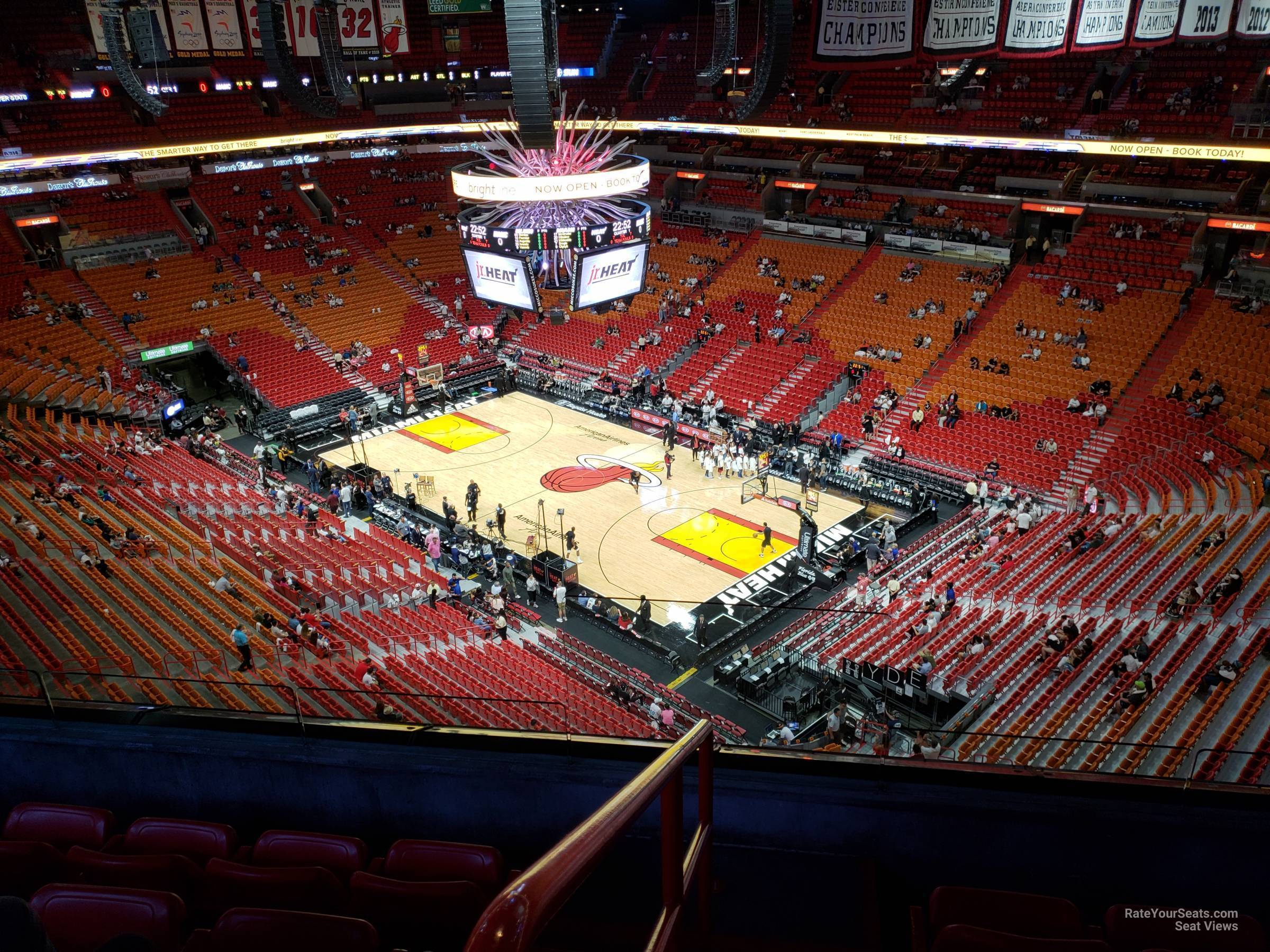 Seat View for AmericanAirlines Arena Section 420, Row 6