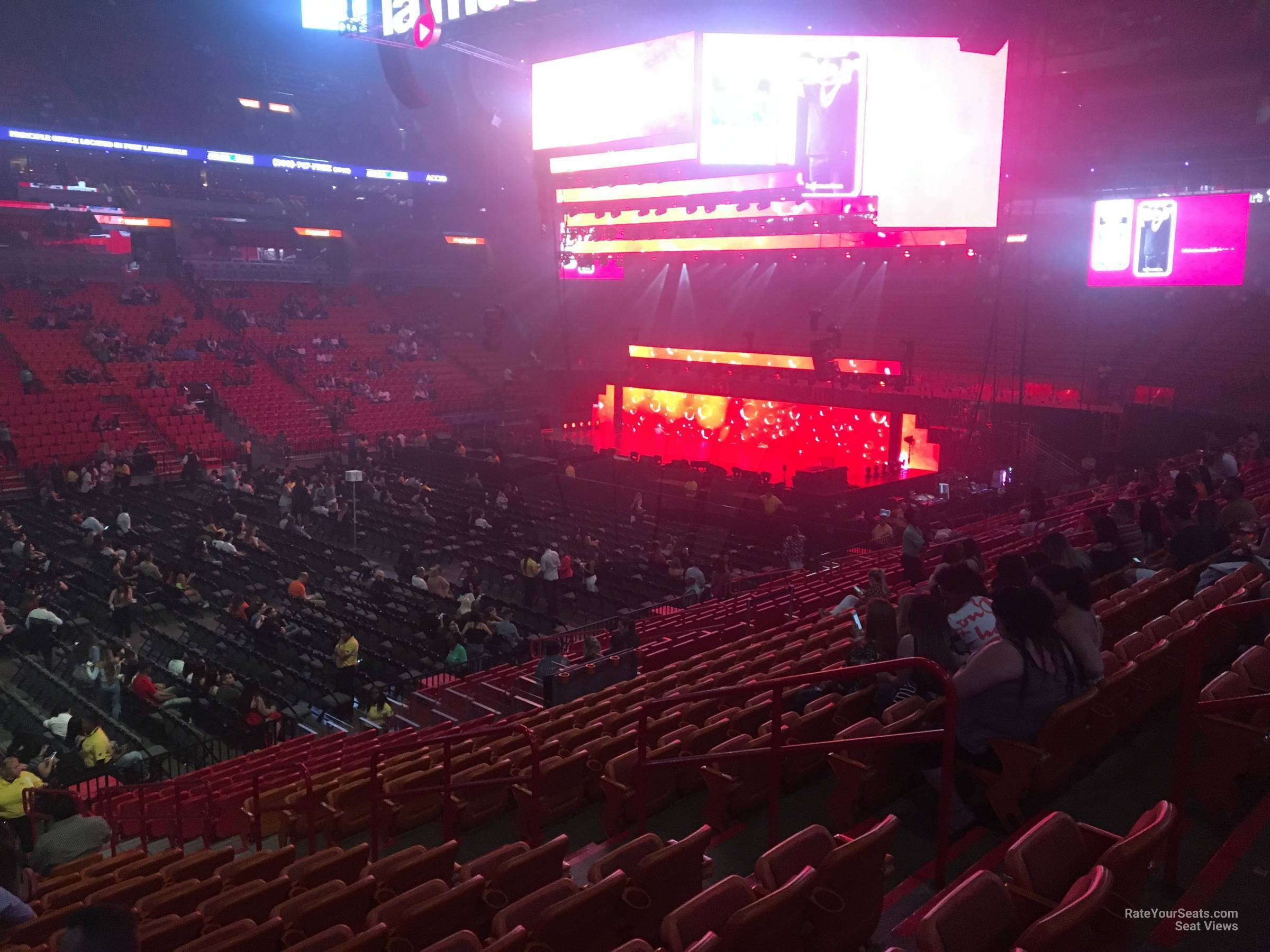 Americanairlines Arena Section 108 Concert Seating