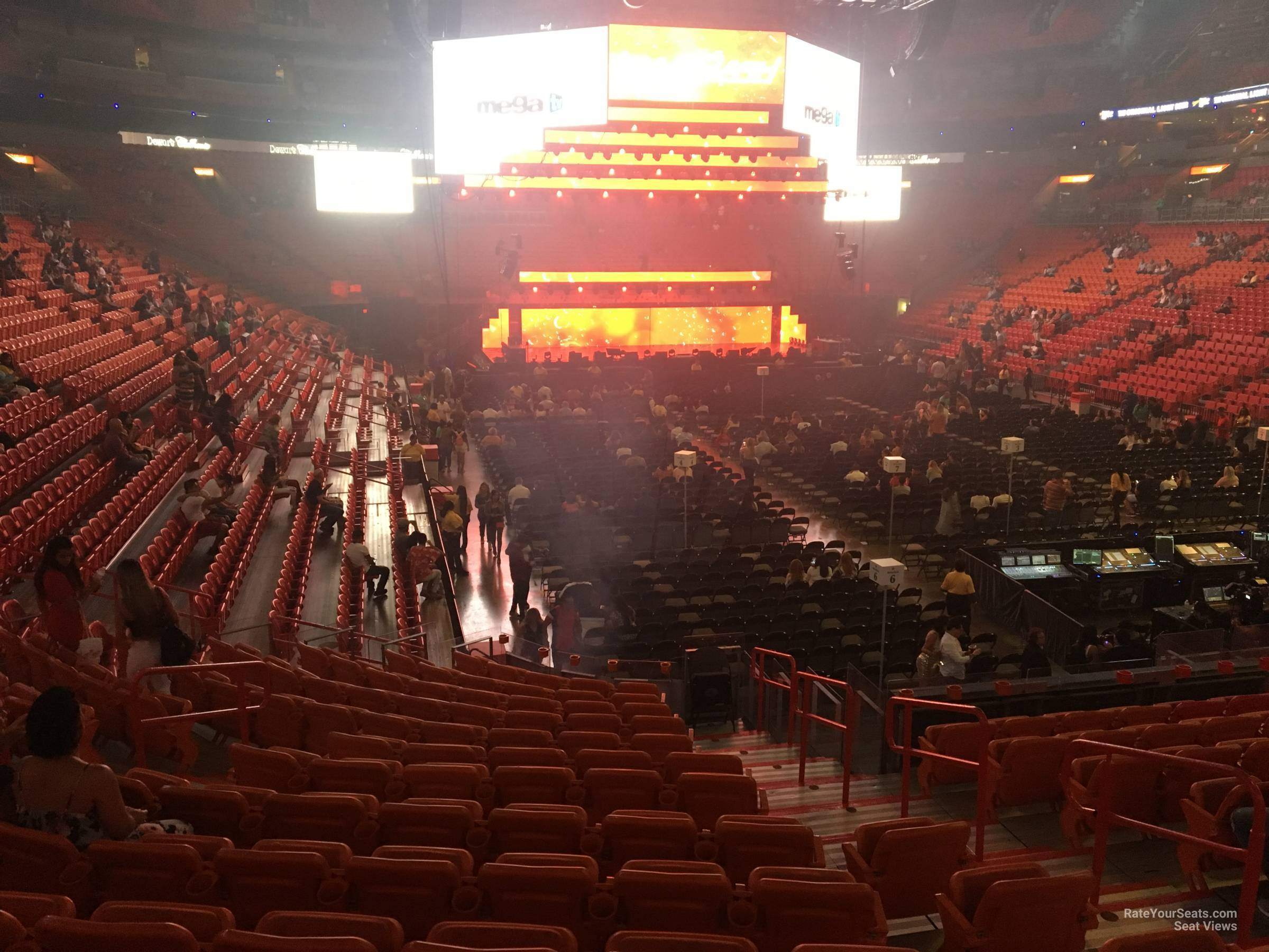 Concert Seat View for AmericanAirlines Arena Section 114, Row 24