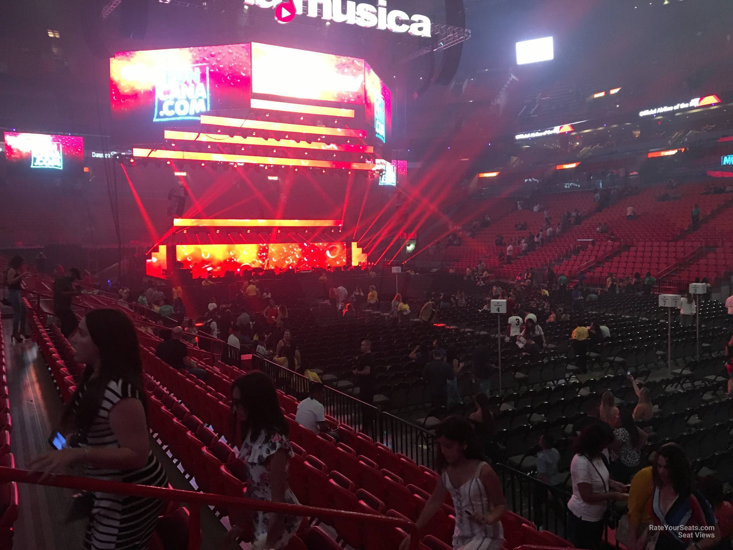 Americanairlines Arena Section 116 Concert Seating
