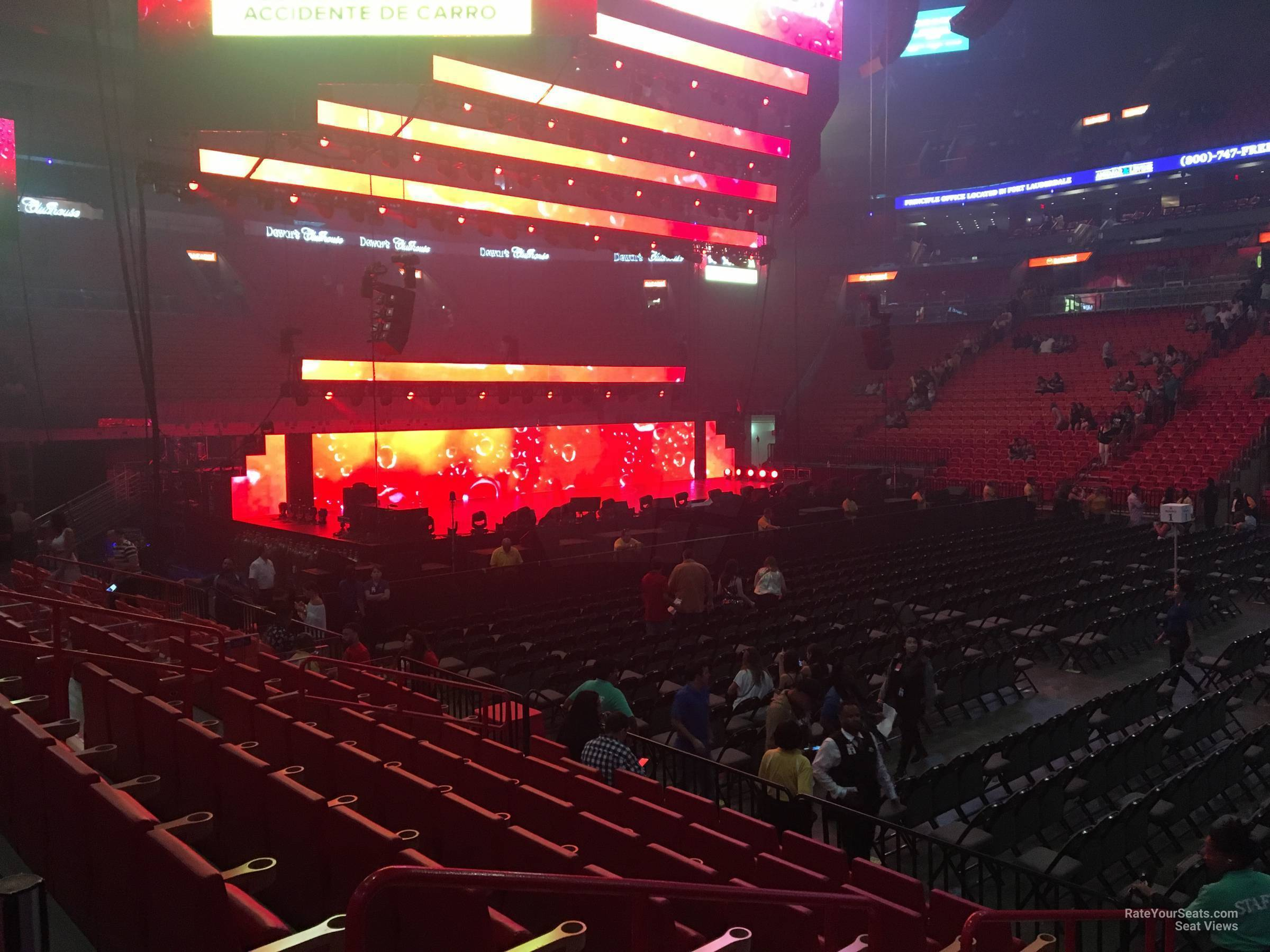 Concert Seat View for AmericanAirlines Arena Section 118, Row 10