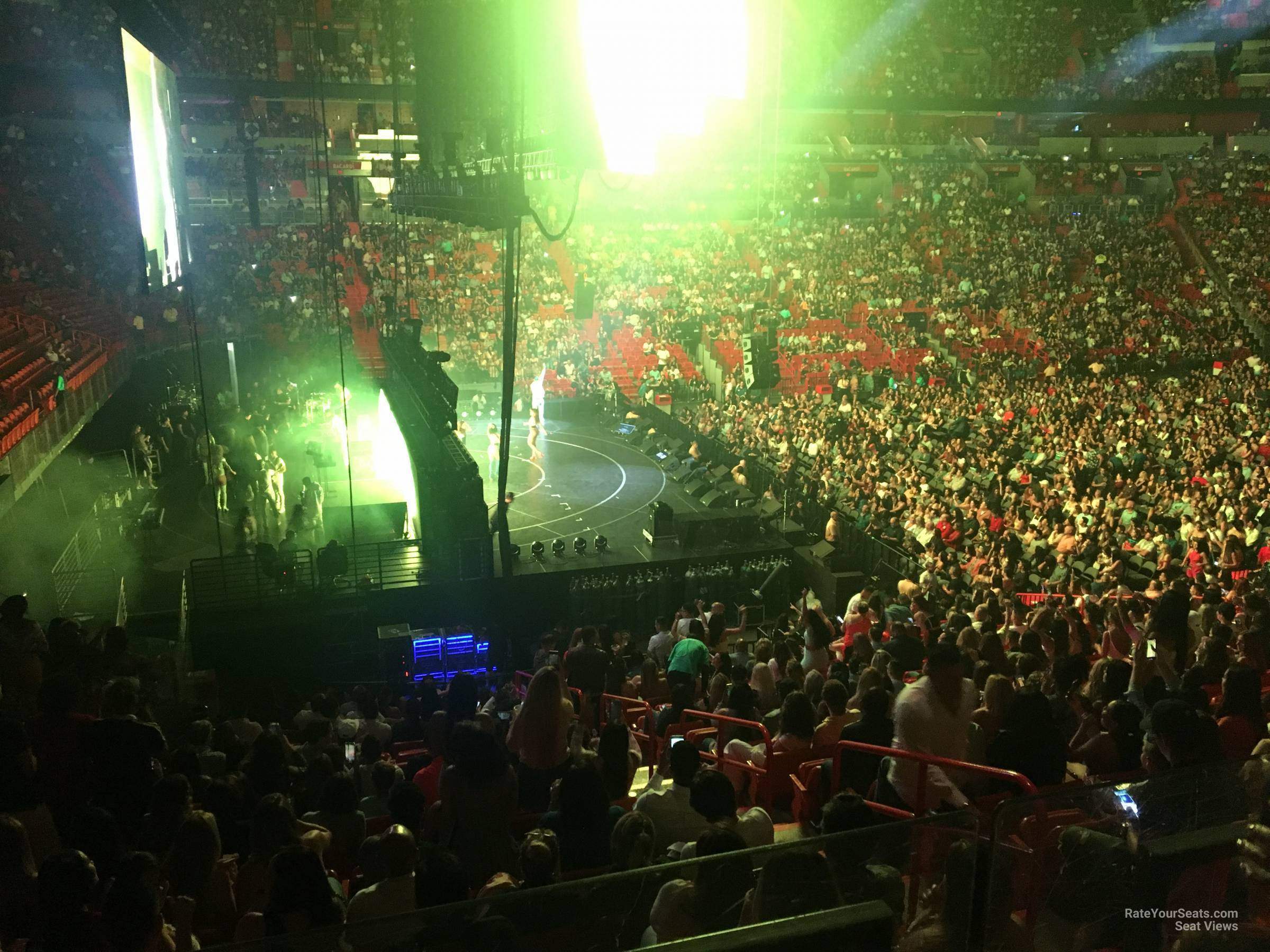 Concert Seat View for AmericanAirlines Arena Section 121, Row 29