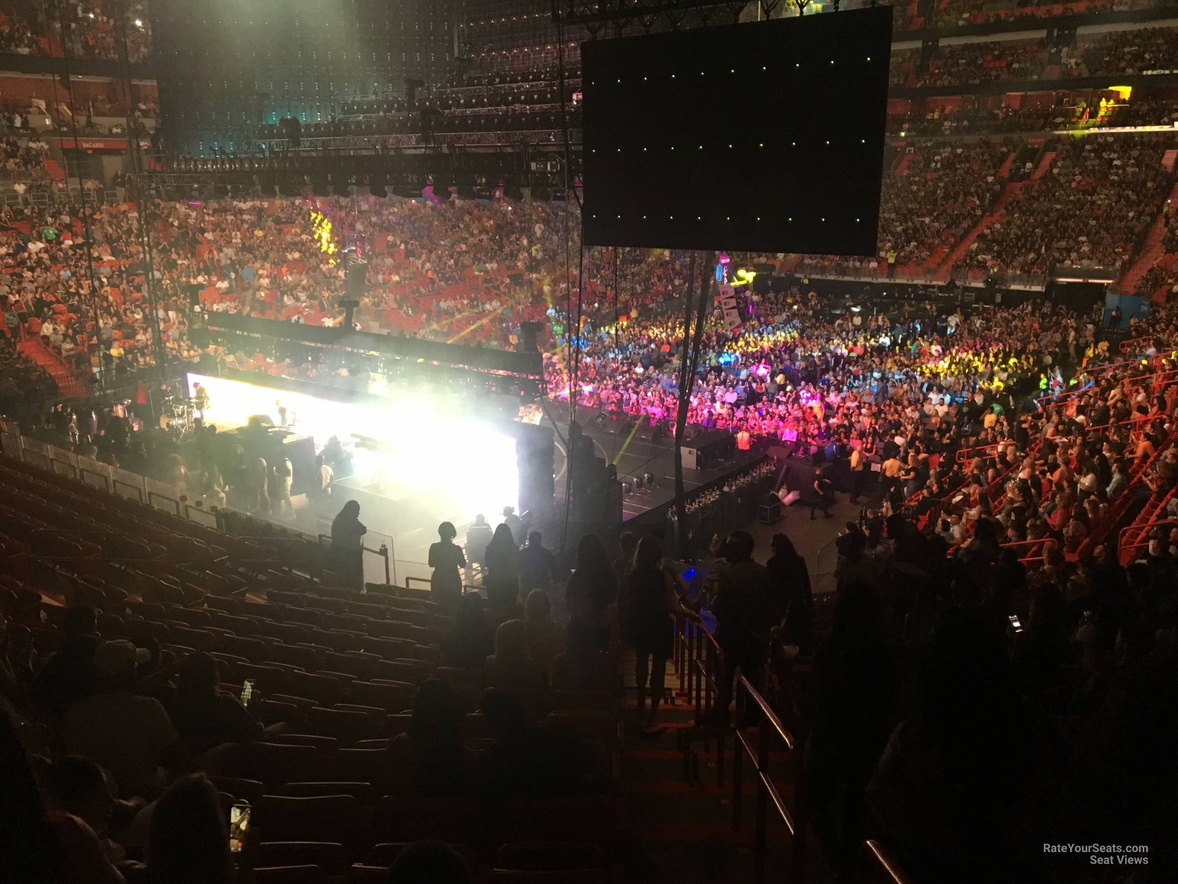 Concert Seat View for AmericanAirlines Arena Section 123, Row 37
