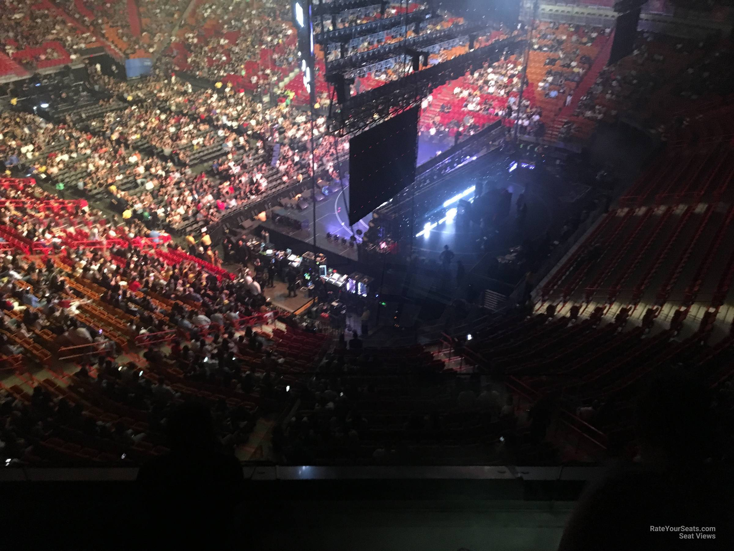 Concert Seat View for AmericanAirlines Arena Section 304, Row 3