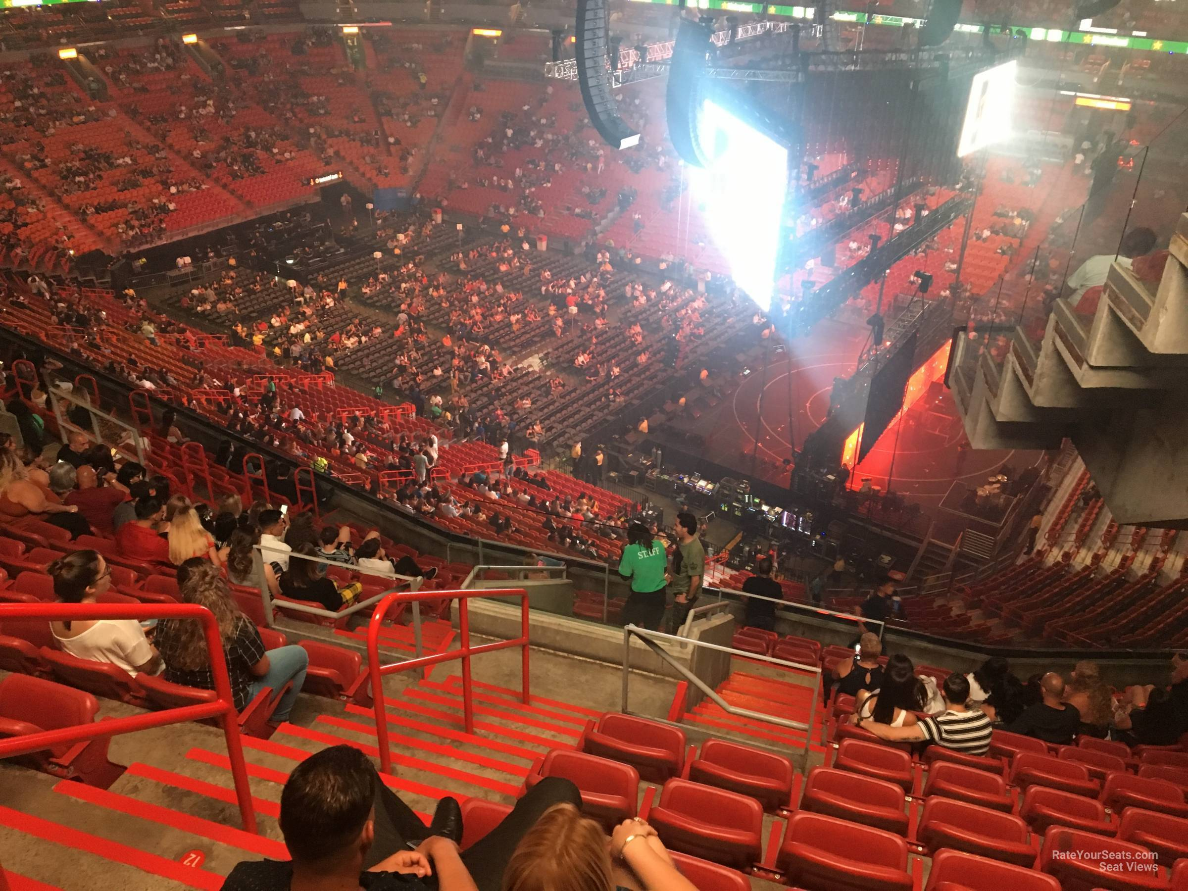 Concert Seat View for AmericanAirlines Arena Section 305, Row 14