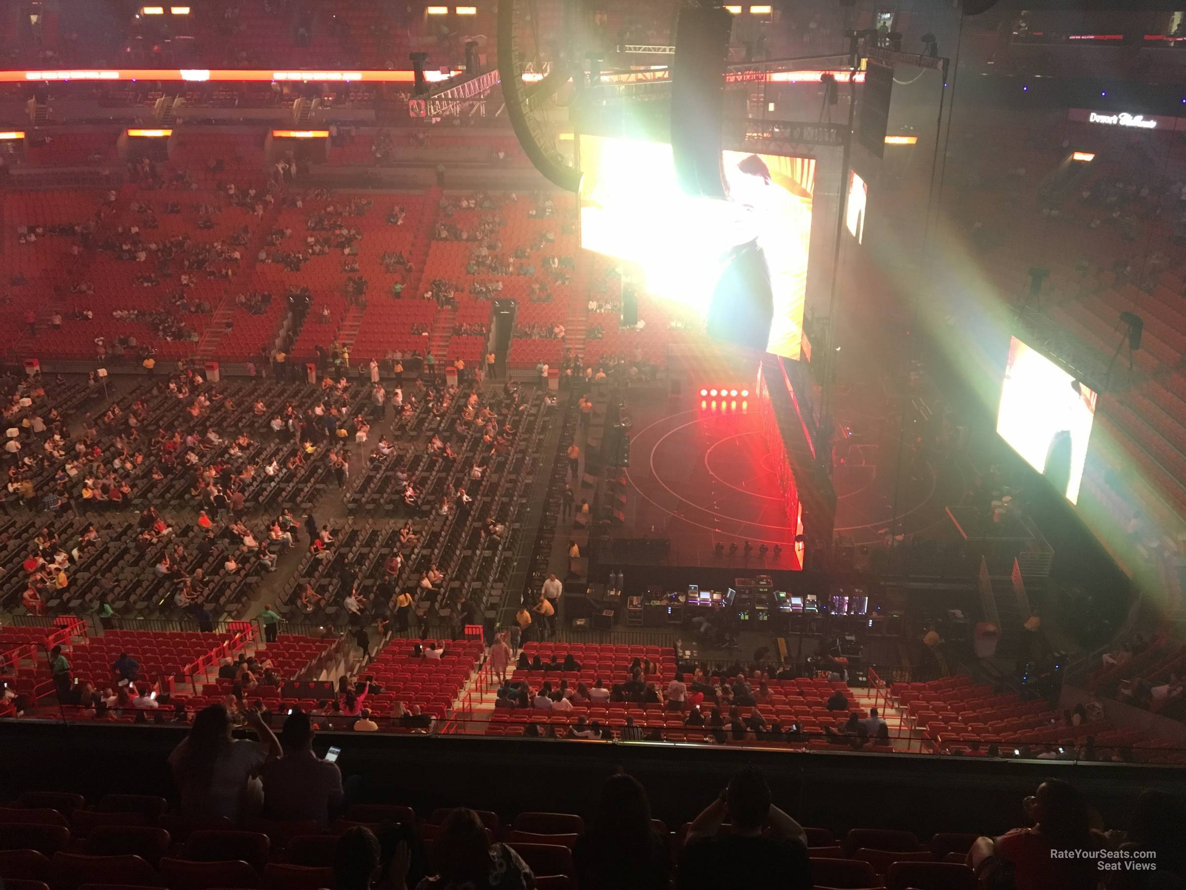 Concert Seat View for AmericanAirlines Arena Section 307, Row 8