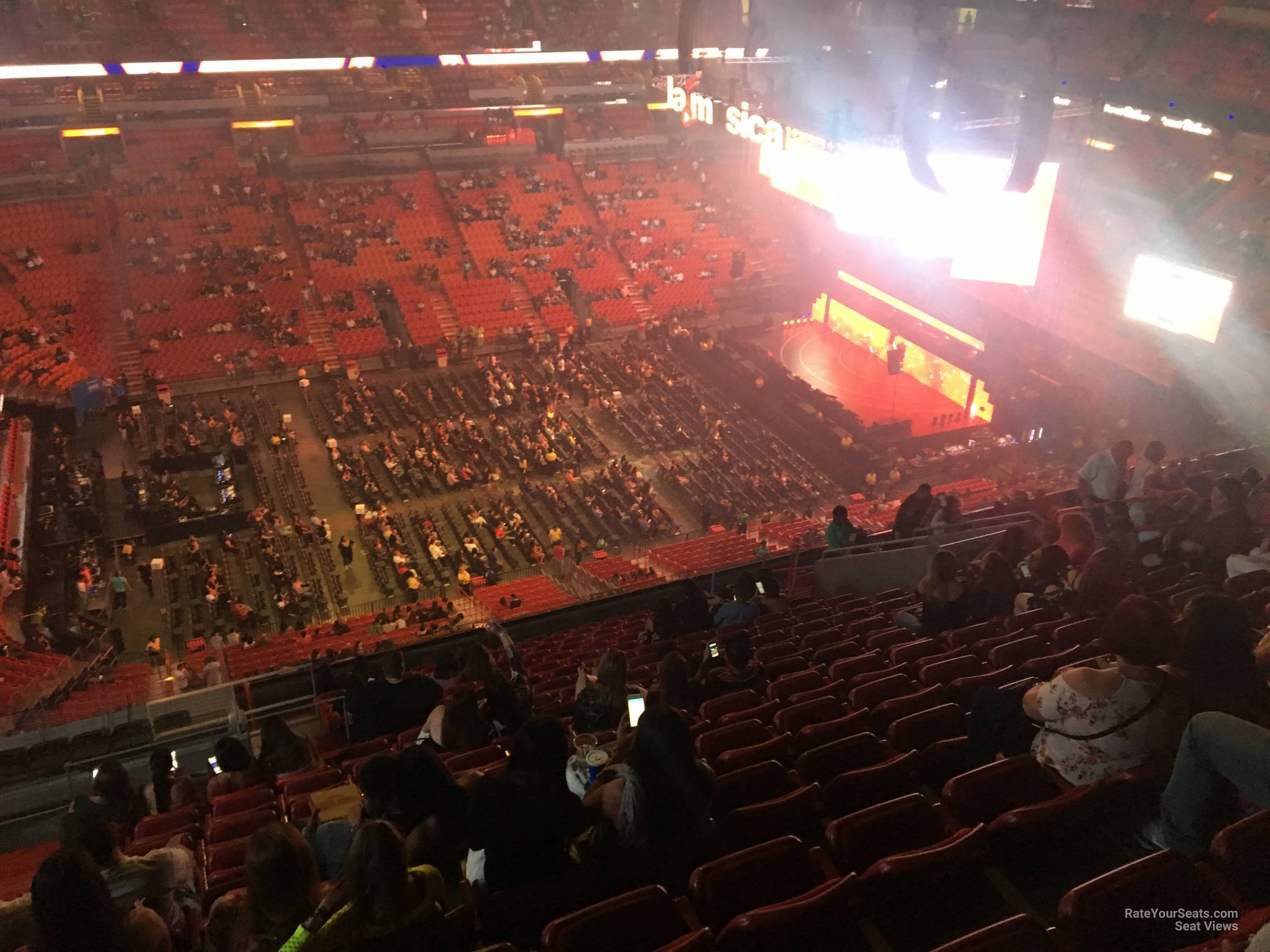 Concert Seat View for AmericanAirlines Arena Section 309, Row 18