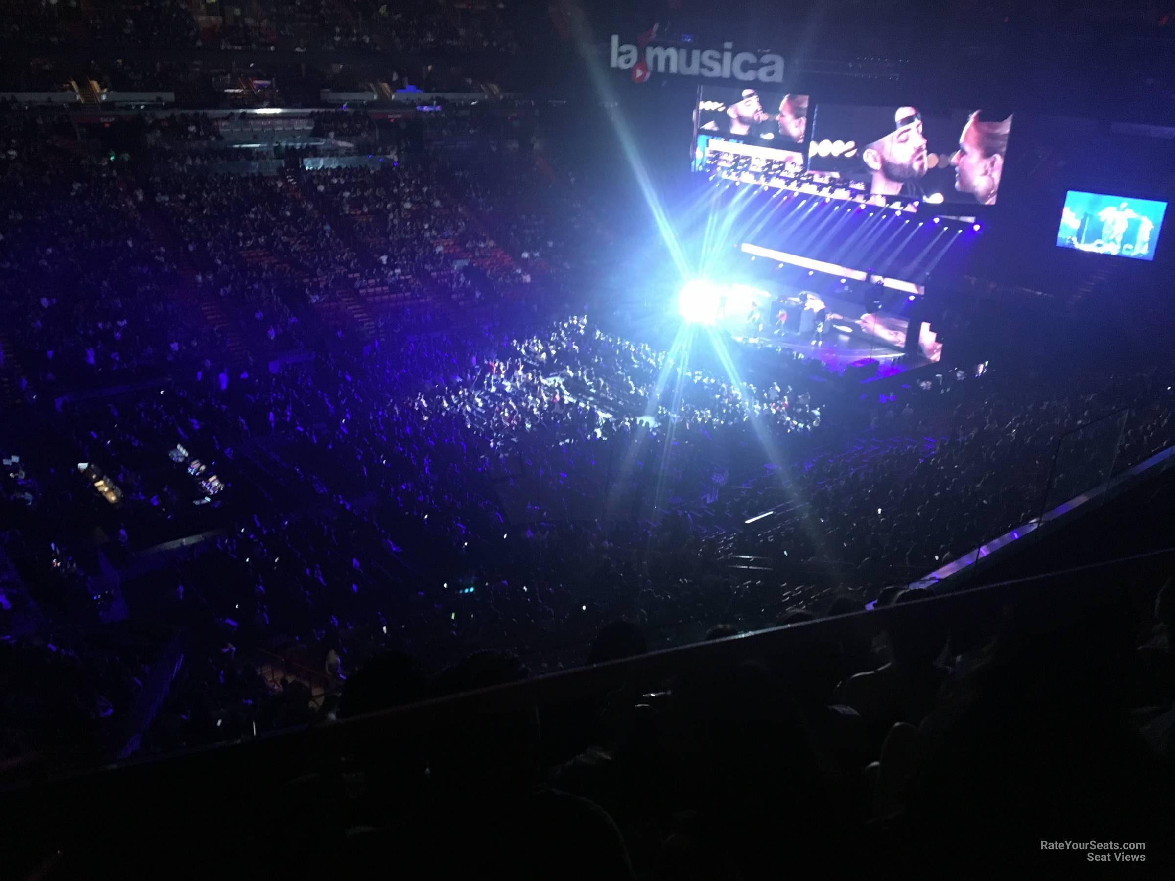 Concert Seat View for AmericanAirlines Arena Section 311, Row 3