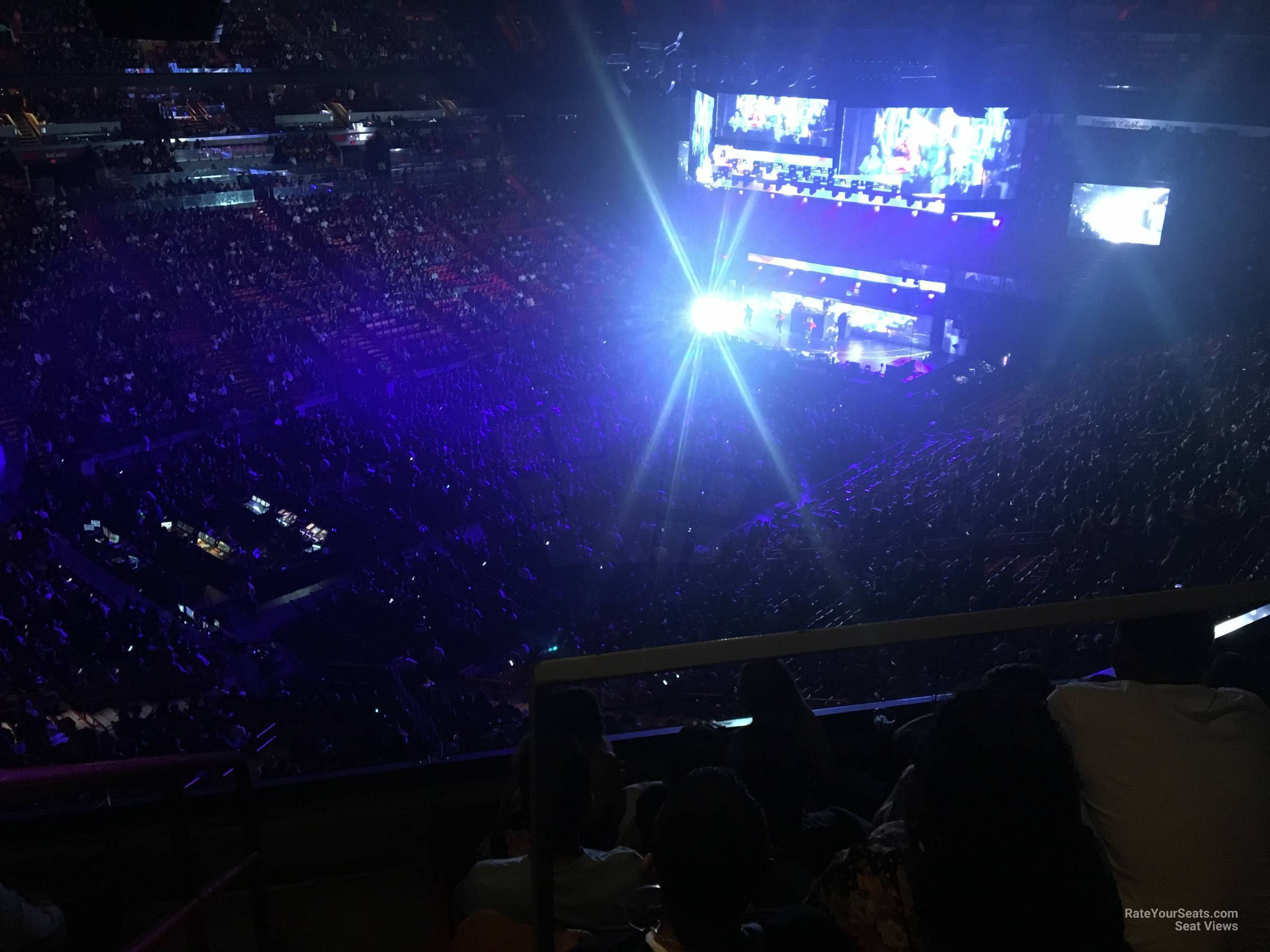 Concert Seat View for AmericanAirlines Arena Section 312, Row 3