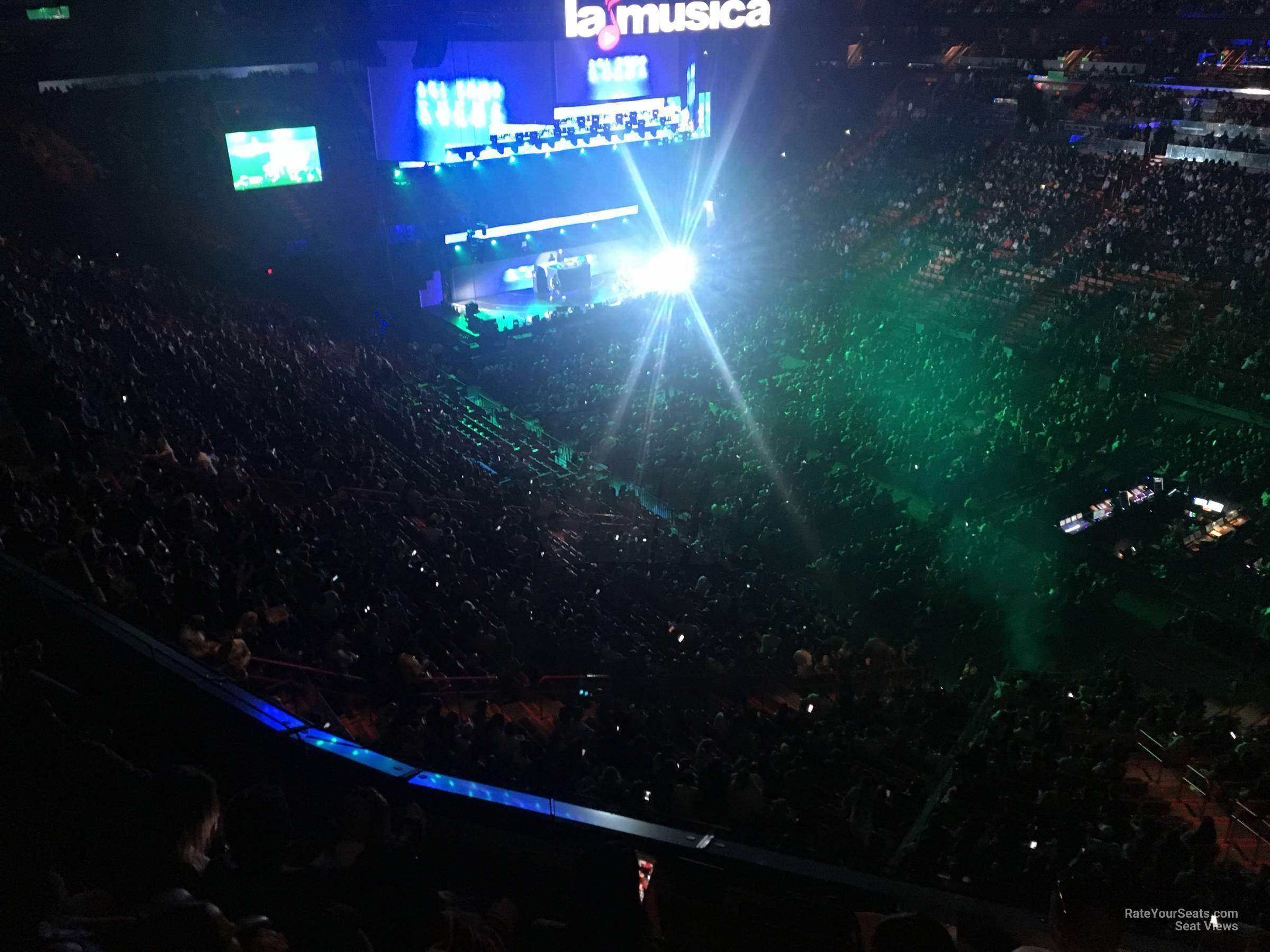 Concert Seat View for AmericanAirlines Arena Section 320, Row 3