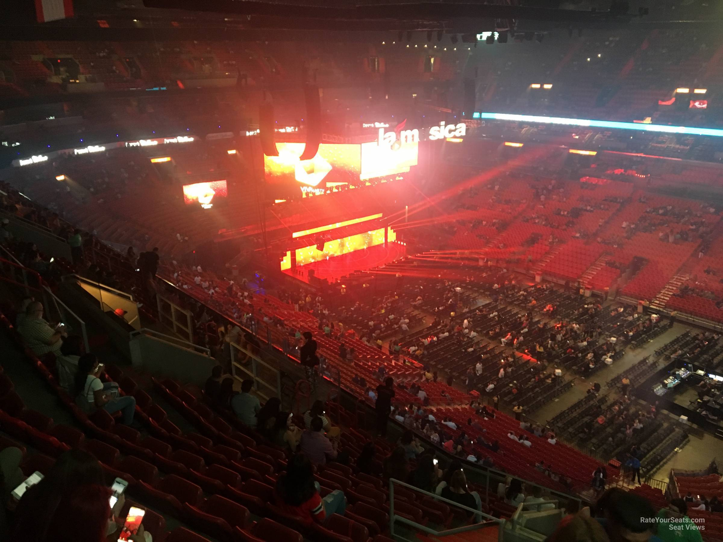 Concert Seat View for AmericanAirlines Arena Section 321, Row 14