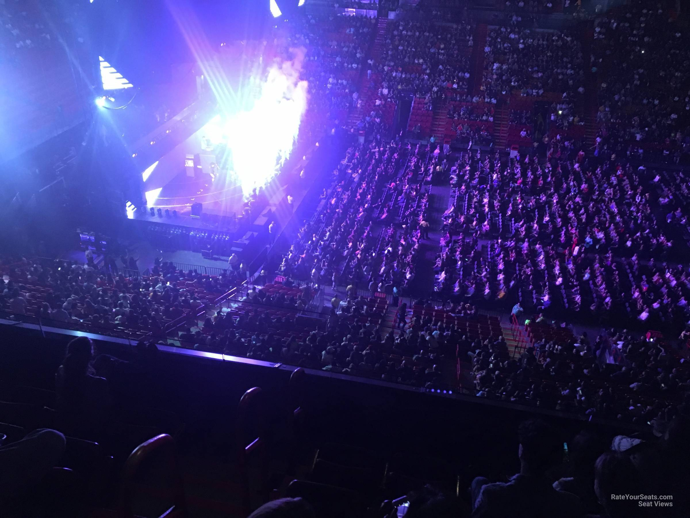 Concert Seat View for AmericanAirlines Arena Section 325, Row 3
