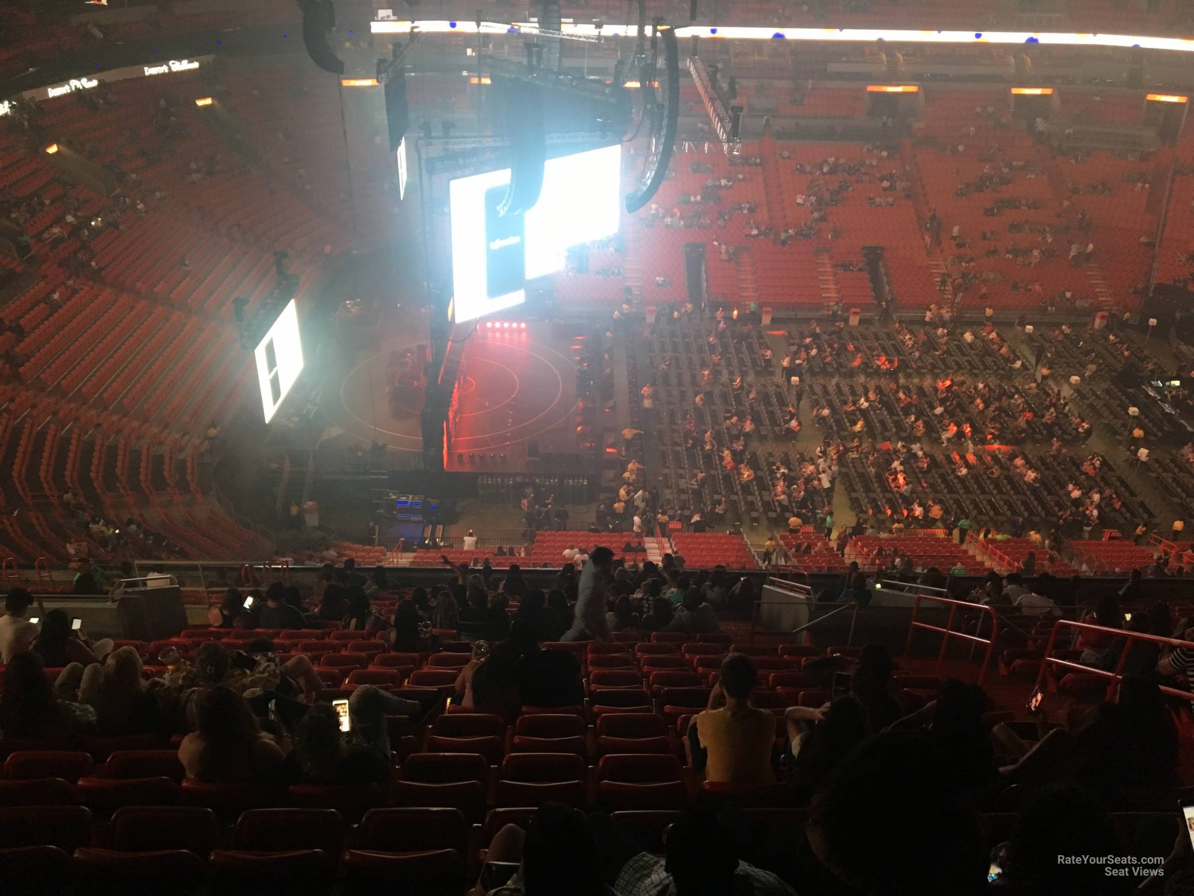 Concert Seat View for AmericanAirlines Arena Section 326, Row 18