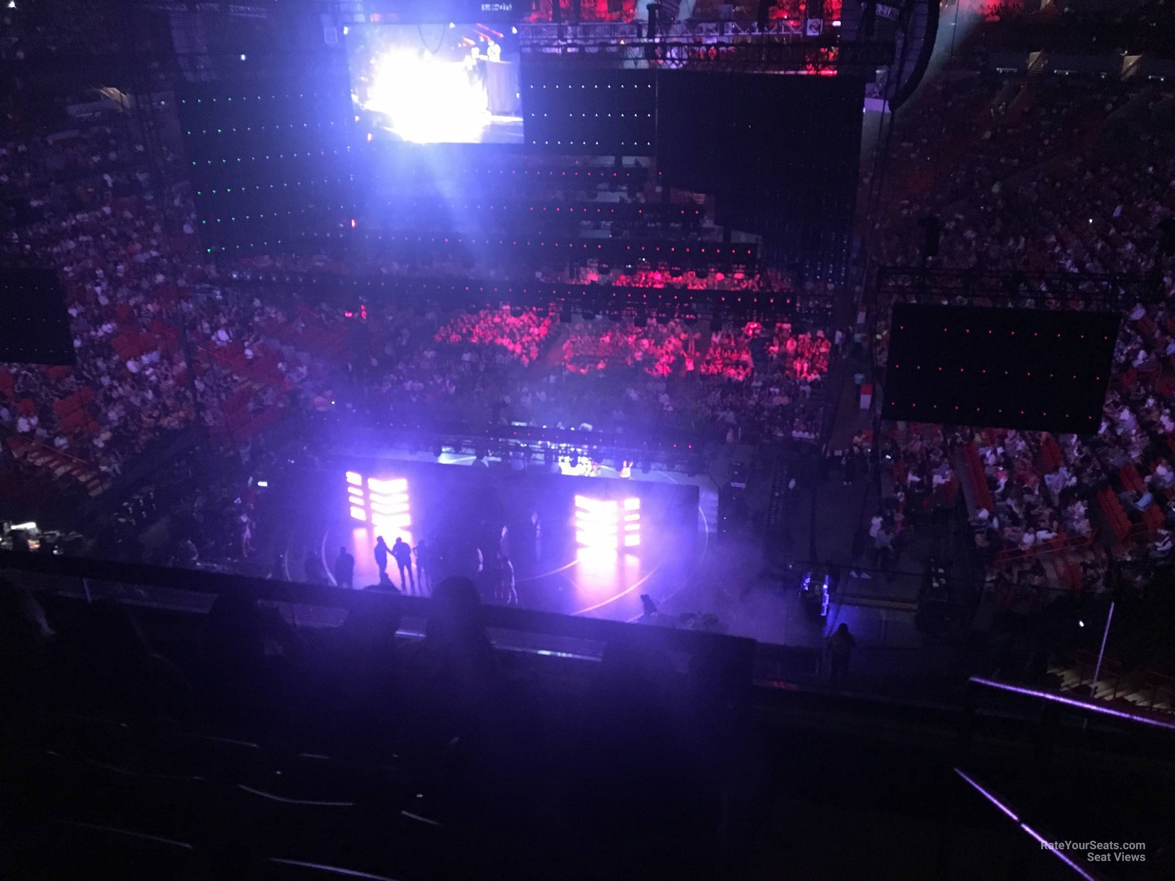 Concert Seat View for AmericanAirlines Arena Section 331, Row 3
