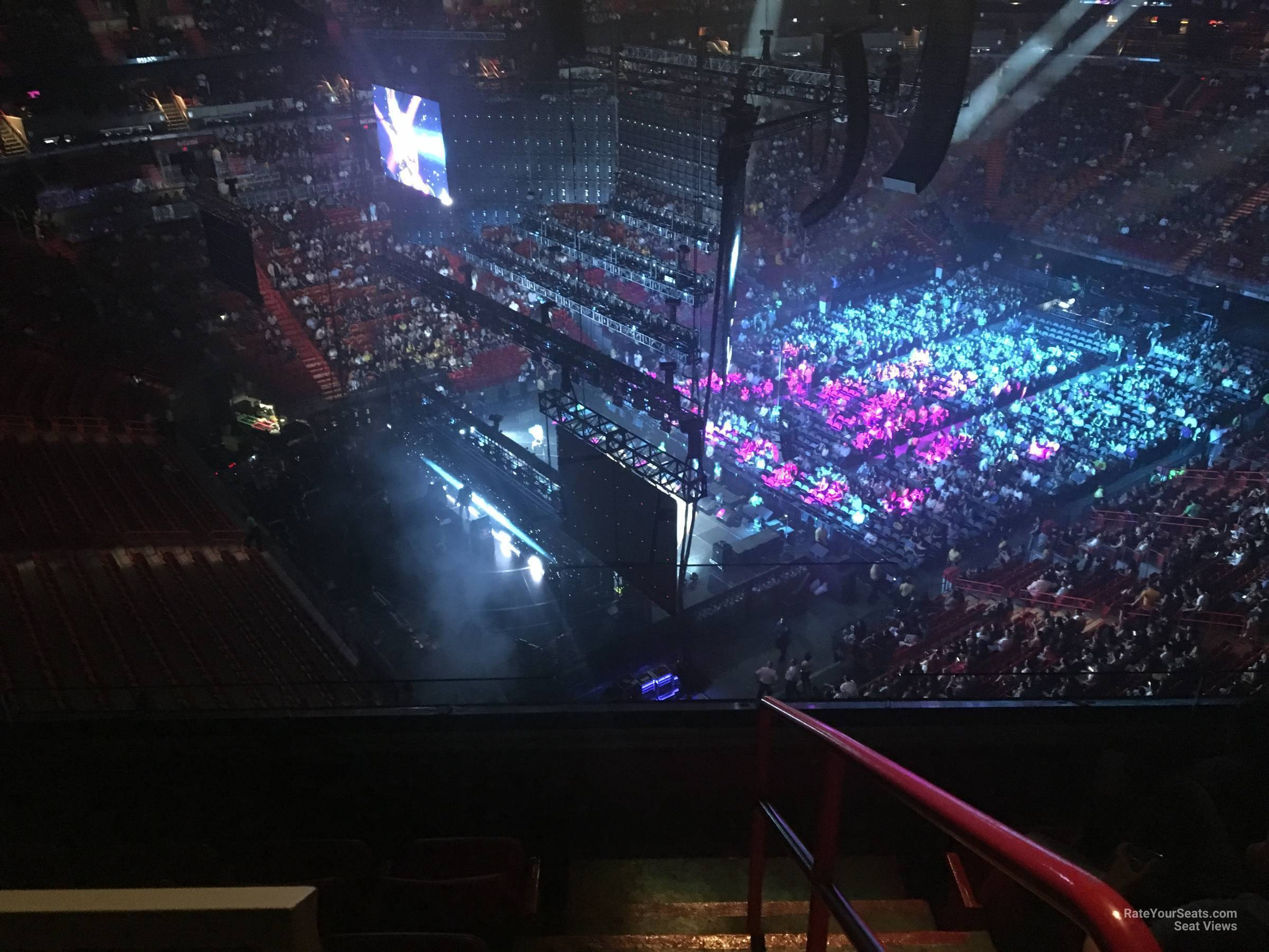 Concert Seat View for AmericanAirlines Arena Section 401, Row 4