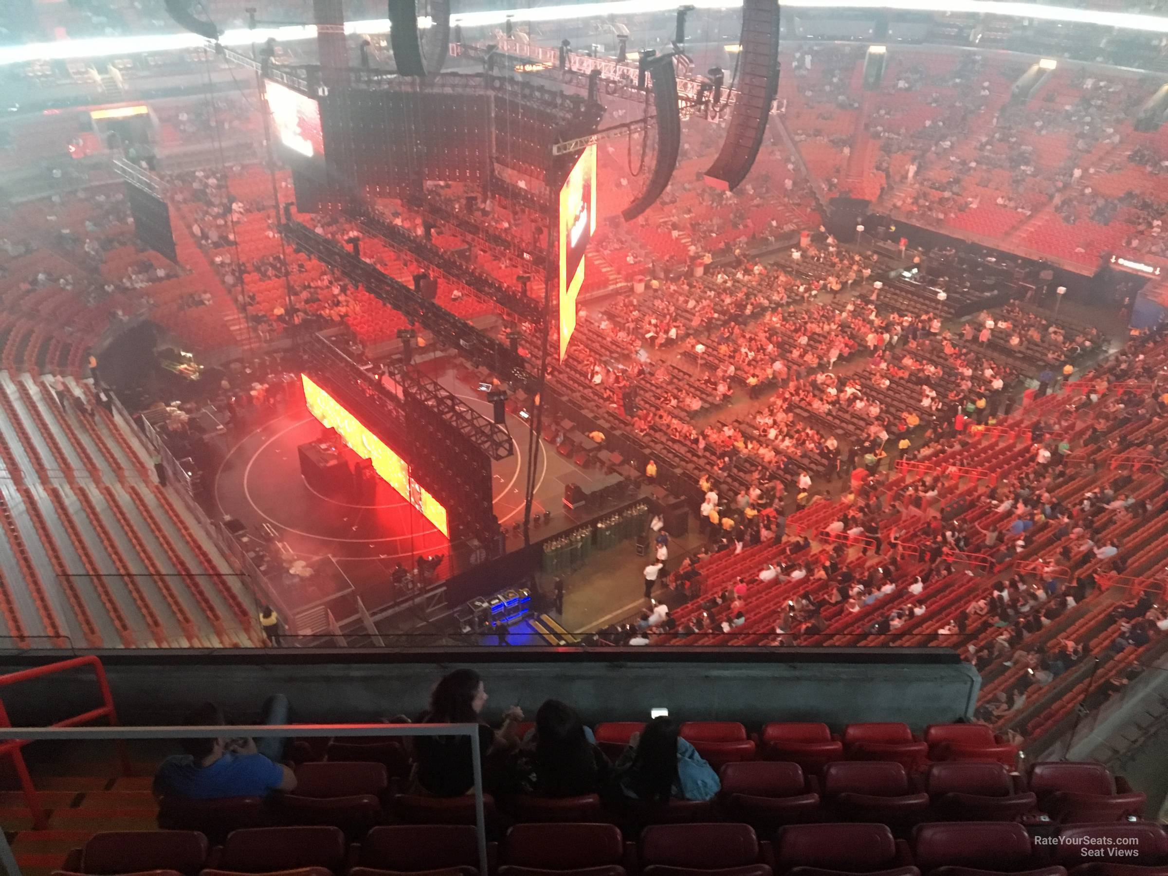 Concert Seat View for AmericanAirlines Arena Section 401, Row 8
