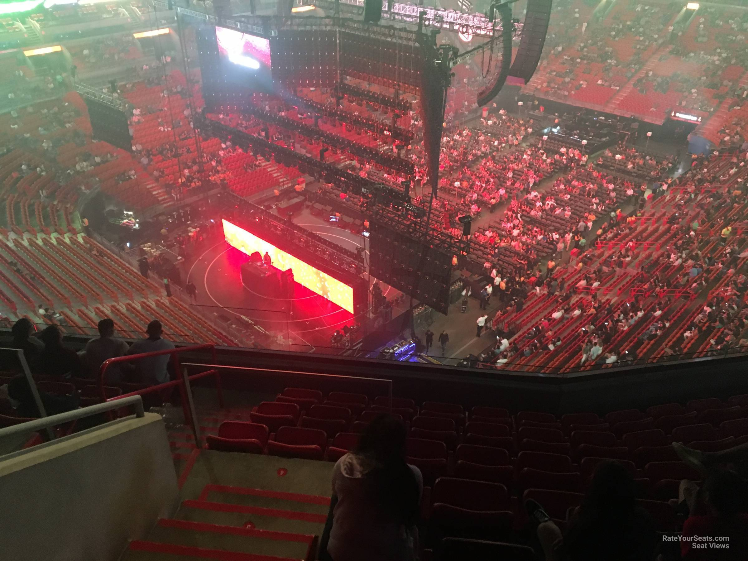 Concert Seat View for AmericanAirlines Arena Section 402, Row 10