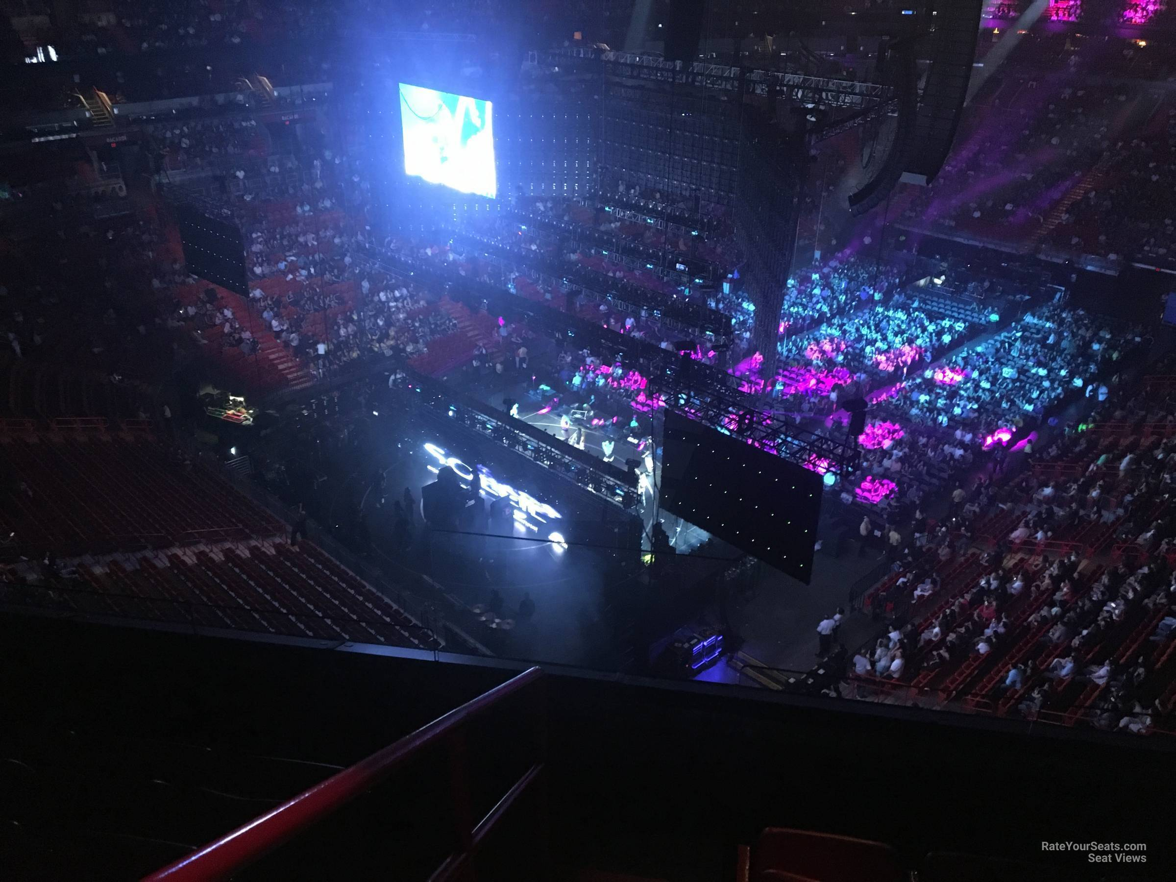 Concert Seat View for AmericanAirlines Arena Section 402, Row 4
