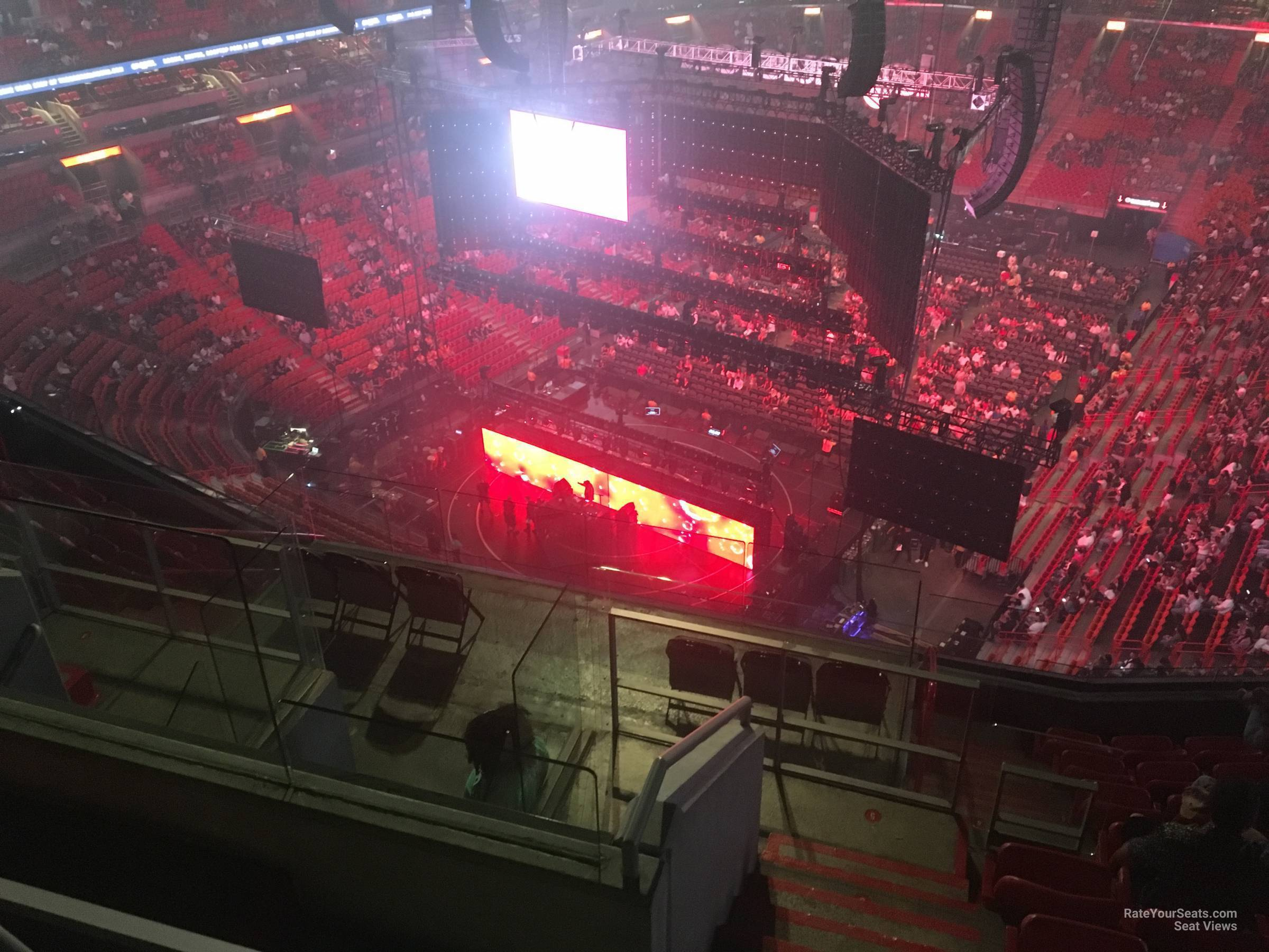Concert Seat View for AmericanAirlines Arena Section 403, Row 10