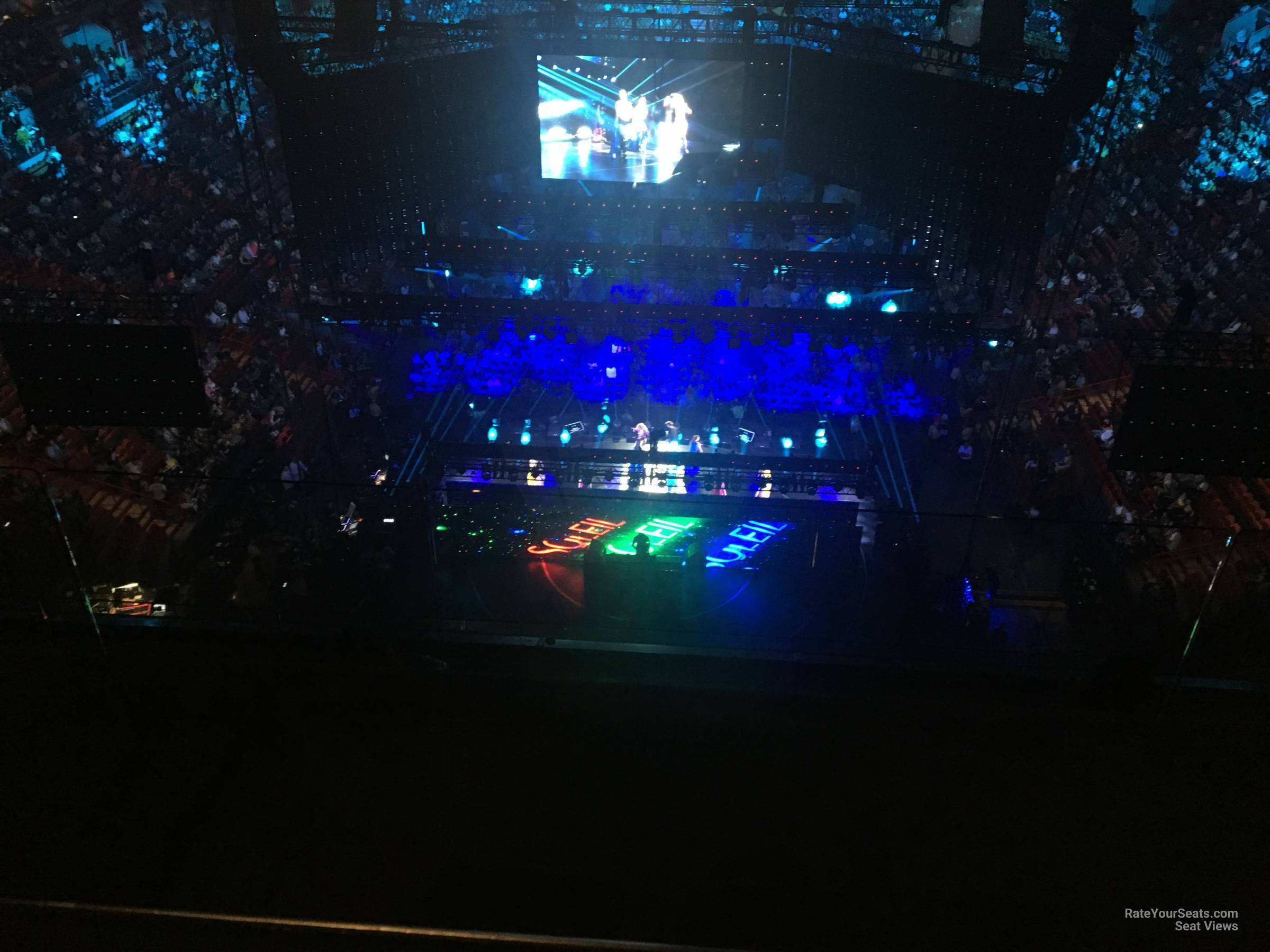 Concert Seat View for AmericanAirlines Arena Section 405, Row 4
