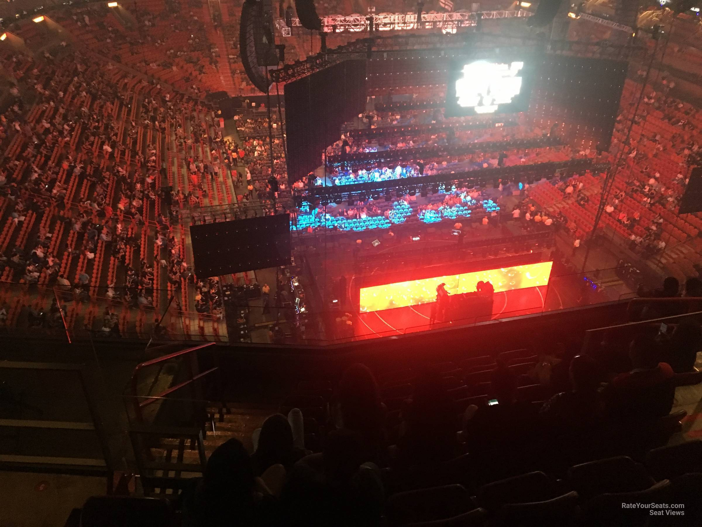 Concert Seat View for AmericanAirlines Arena Section 407, Row 10