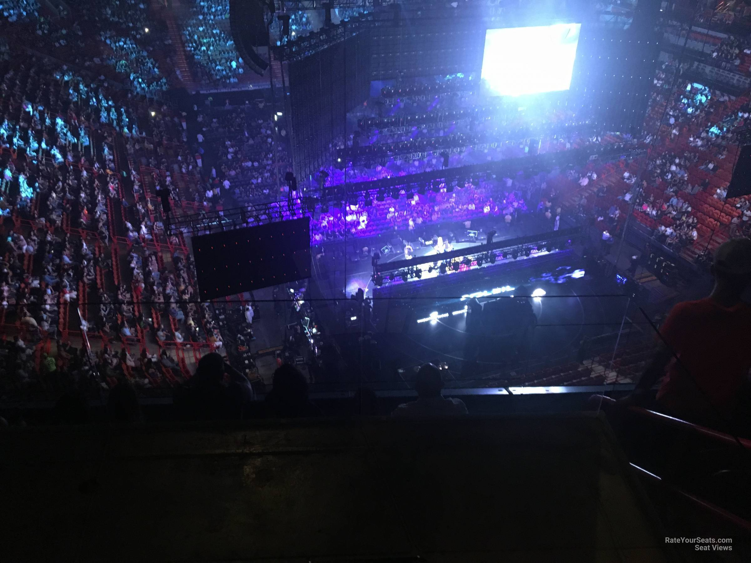 Concert Seat View for AmericanAirlines Arena Section 407, Row 4